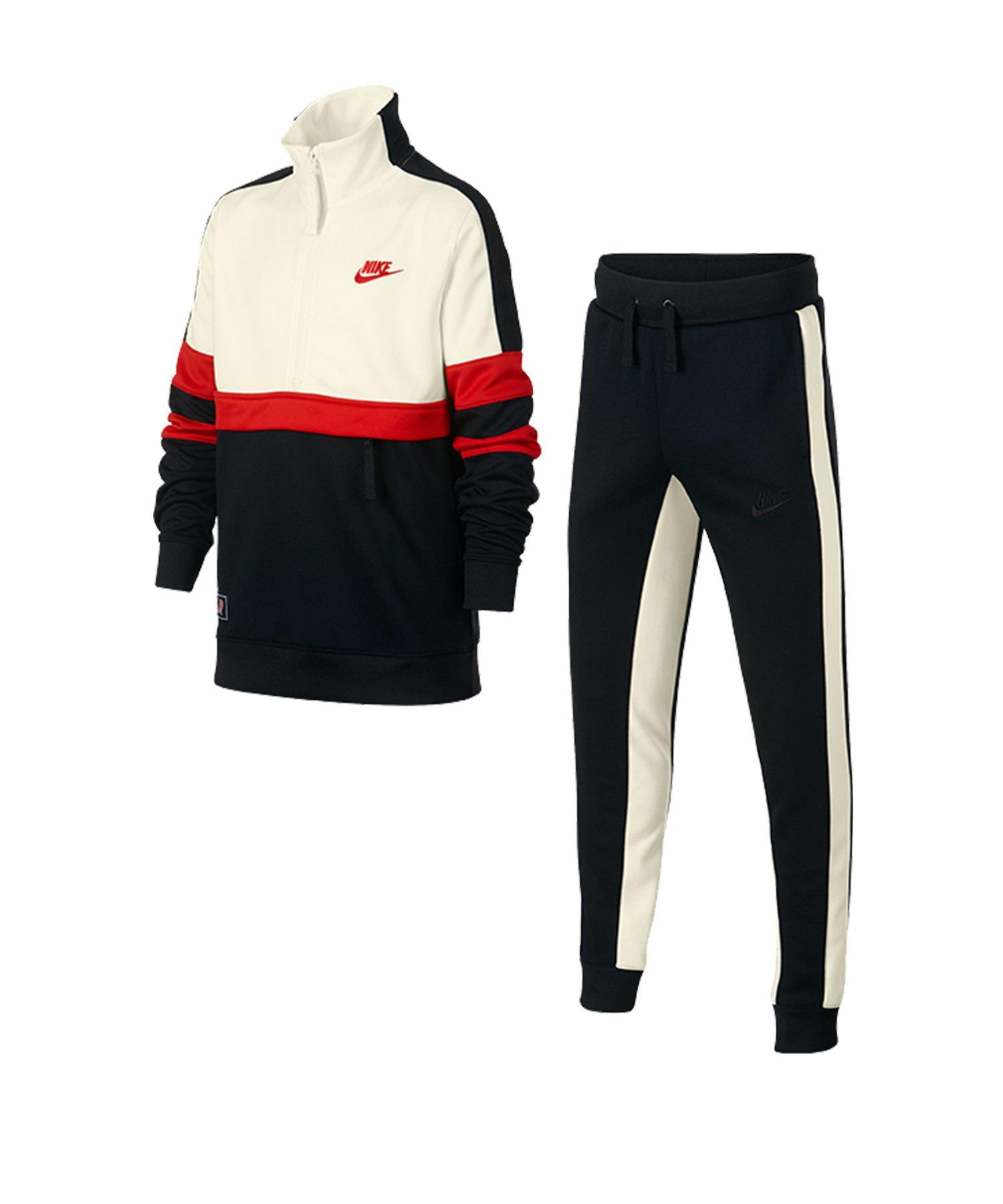 Nike Air Track Suit Anzug Kids Schwarz F011