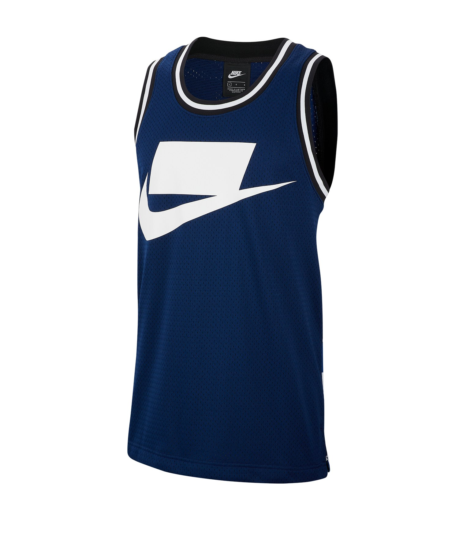 Nike Check AOP Tank Top Blau Weiss F492 - Blau