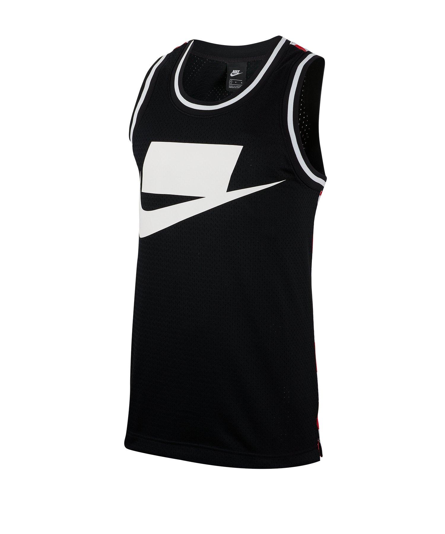 Nike Check AOP Tank Top Schwarz Running Weiss F010 - Schwarz