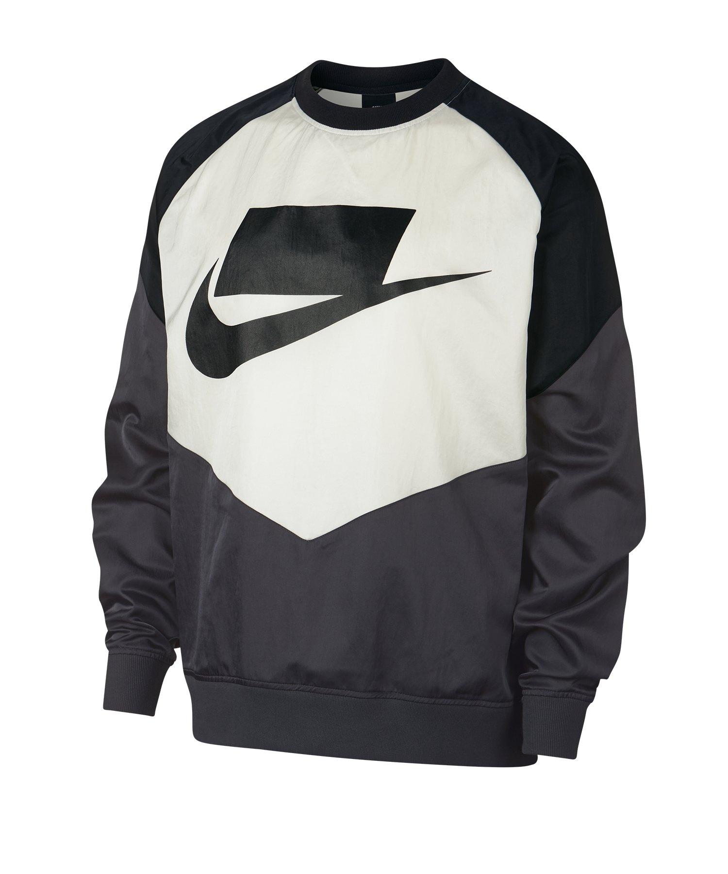 Nike Crew Woven Sweatshirt Schwarz Grau F060 - Grau