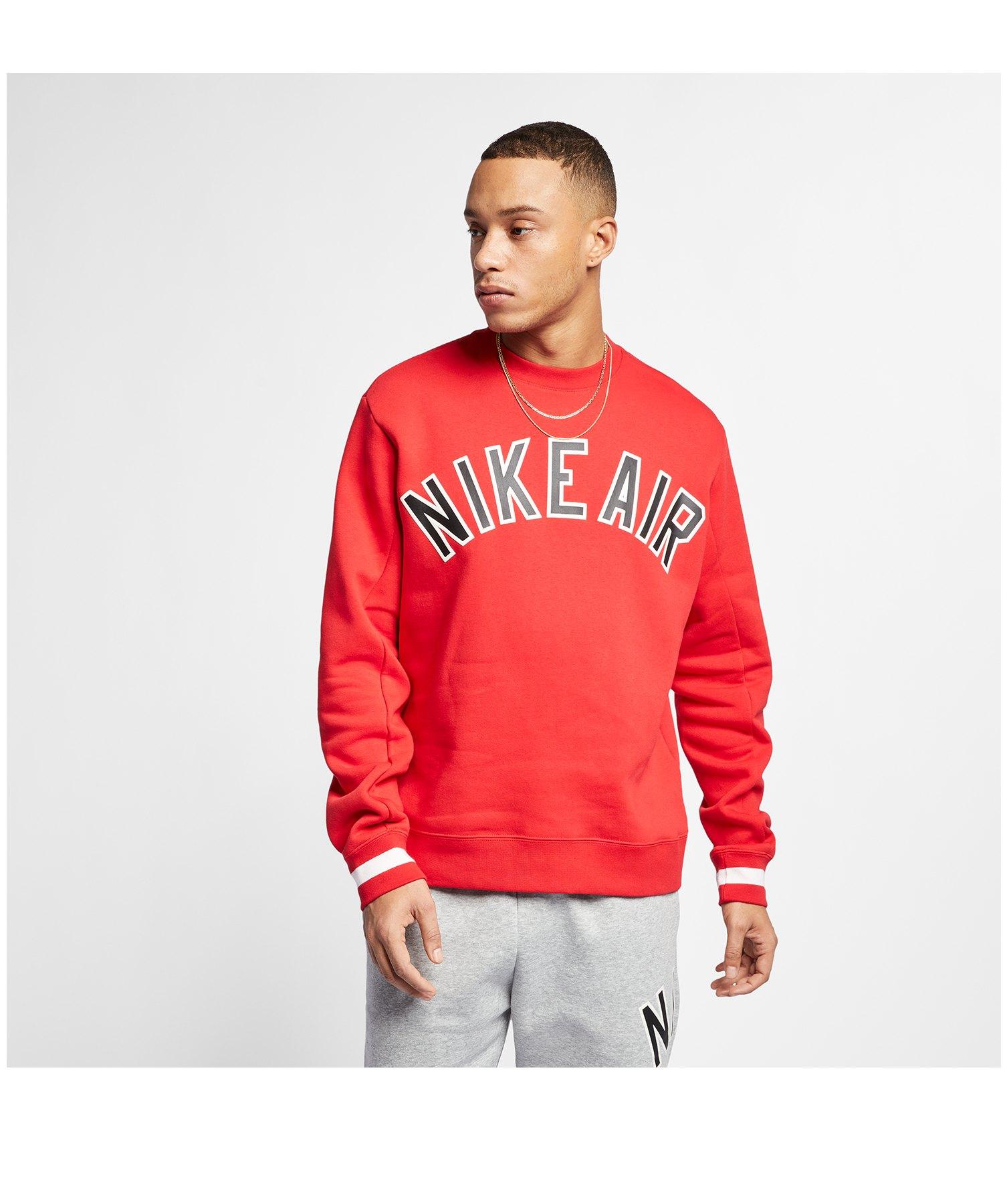 Nike Air Crew Fleece Sweater Rot F657 - rot