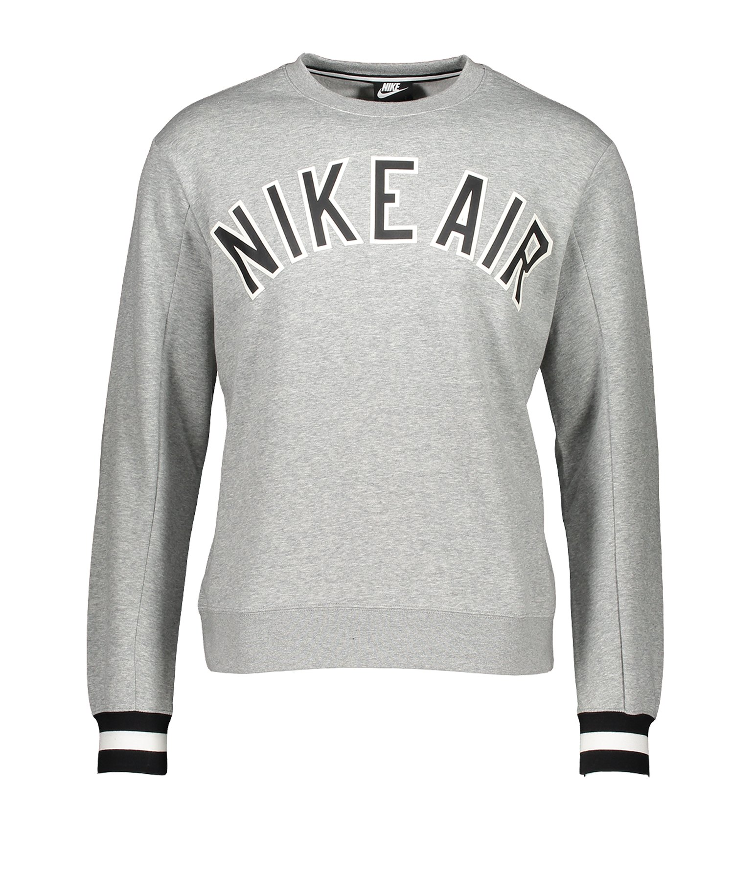Nike Air Crew Fleece Sweatshirt Grau F063 - Grau