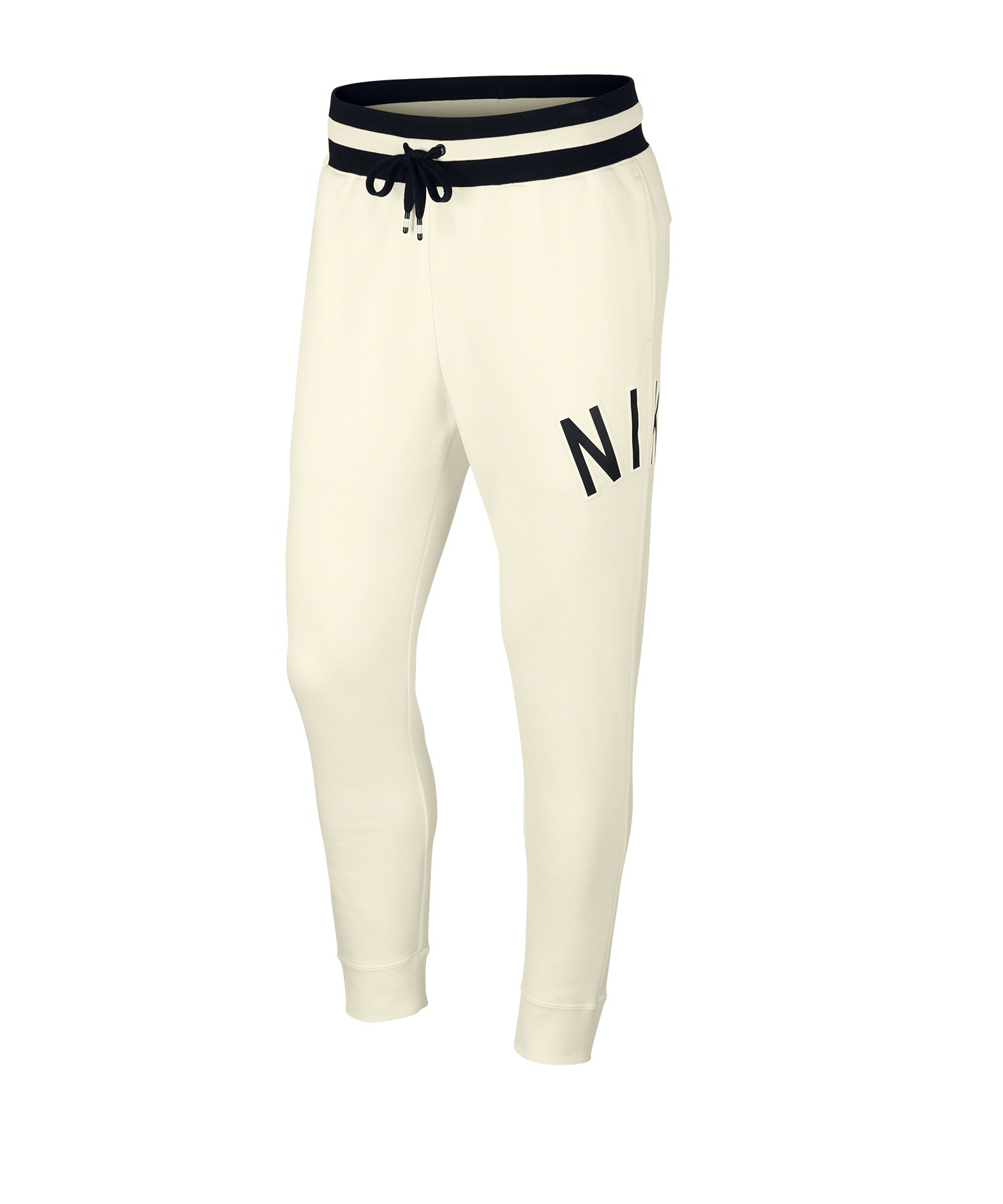 Nike Air Retro Pant Jogginghose Weiss Schwarz F133 - Weiss
