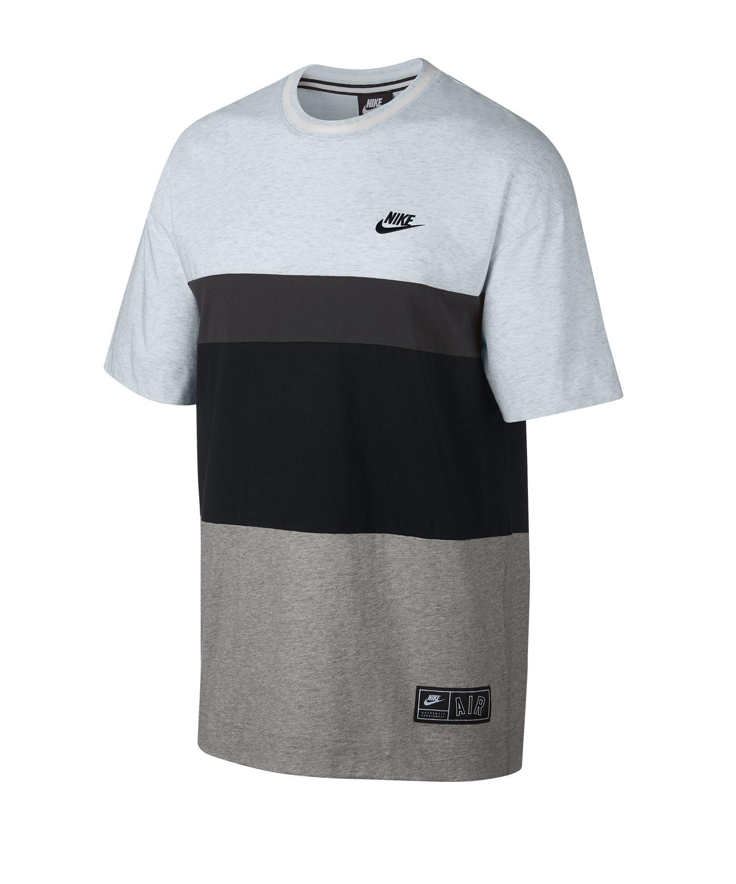 Nike Air T-Shirt Schwarz Grau Blau F051 - schwarz