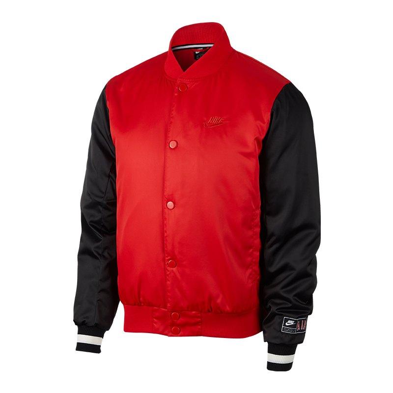 Nike Air Woven Jacke Rot Schwarz F657 - rot