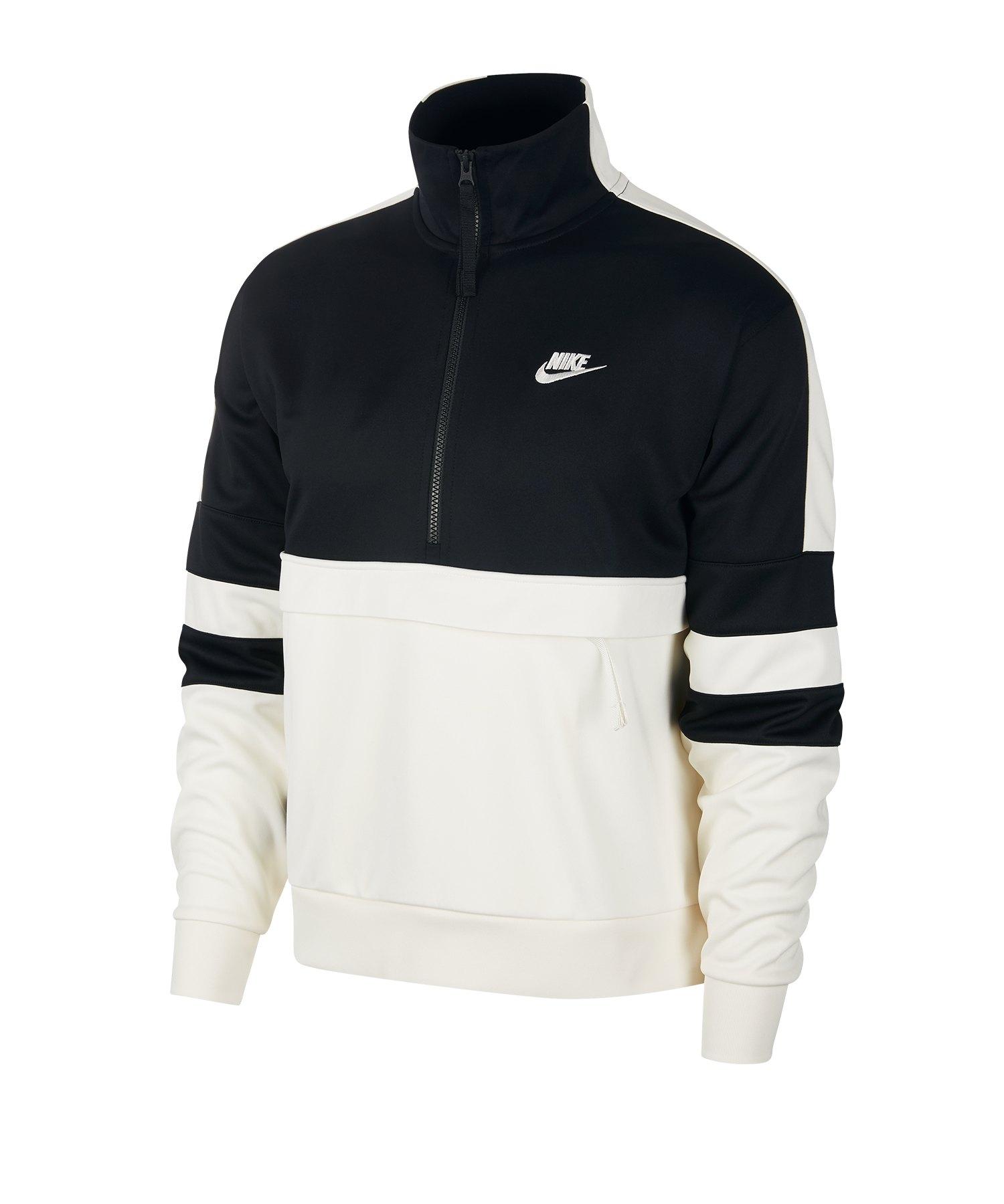Nike Air Sweatshirt 1/4 Zip Schwarz F010 - schwarz