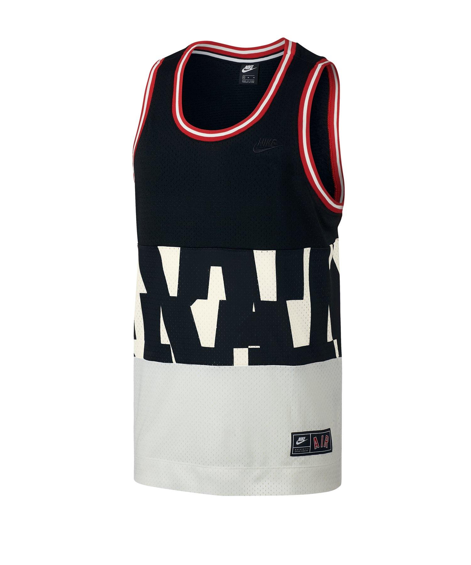 Nike Air Mesh Tank Top Schwarz Weiss Rot F010 - Schwarz