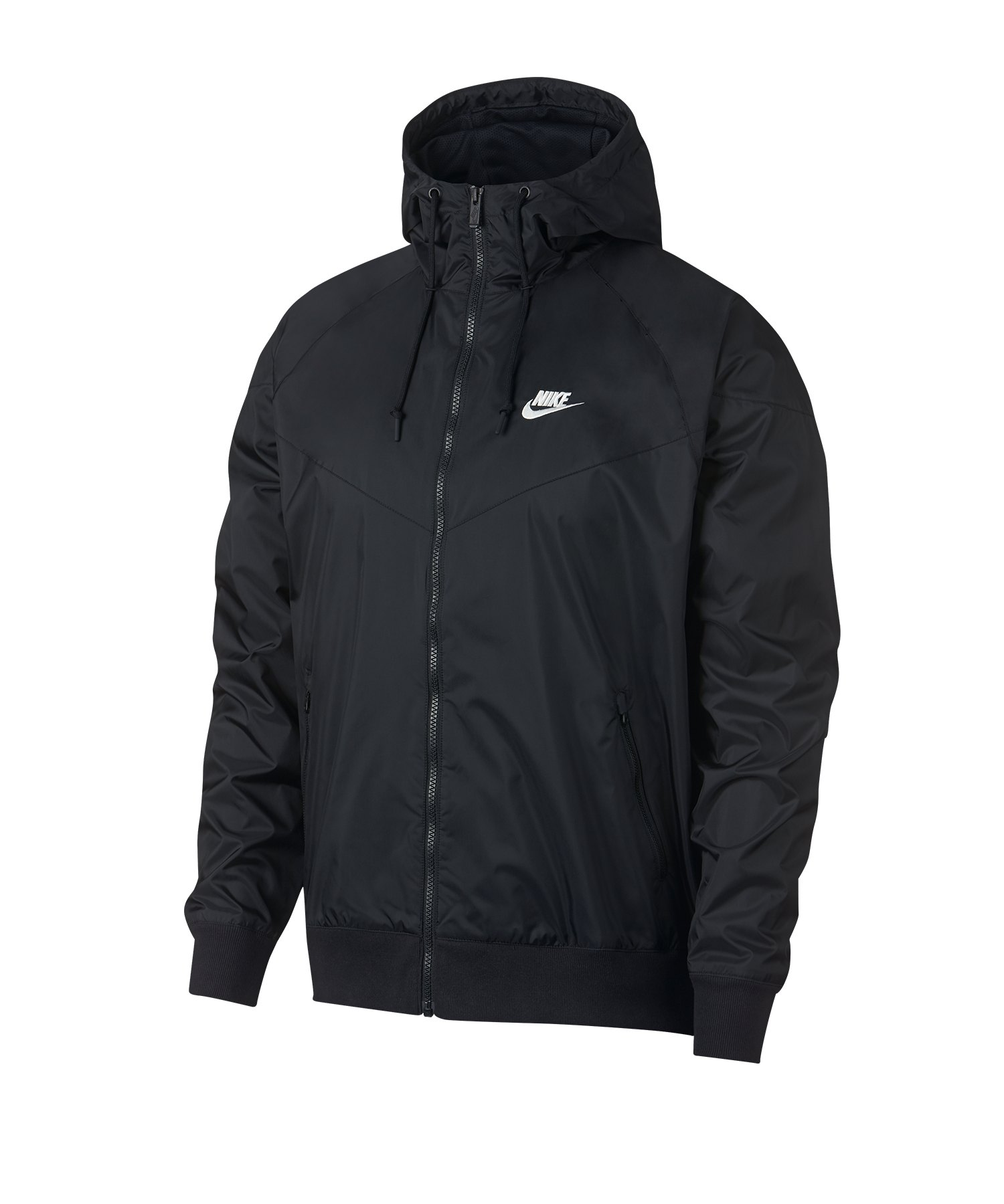 Nike Windrunner Kapuzenjacke Schwarz F010 - schwarz