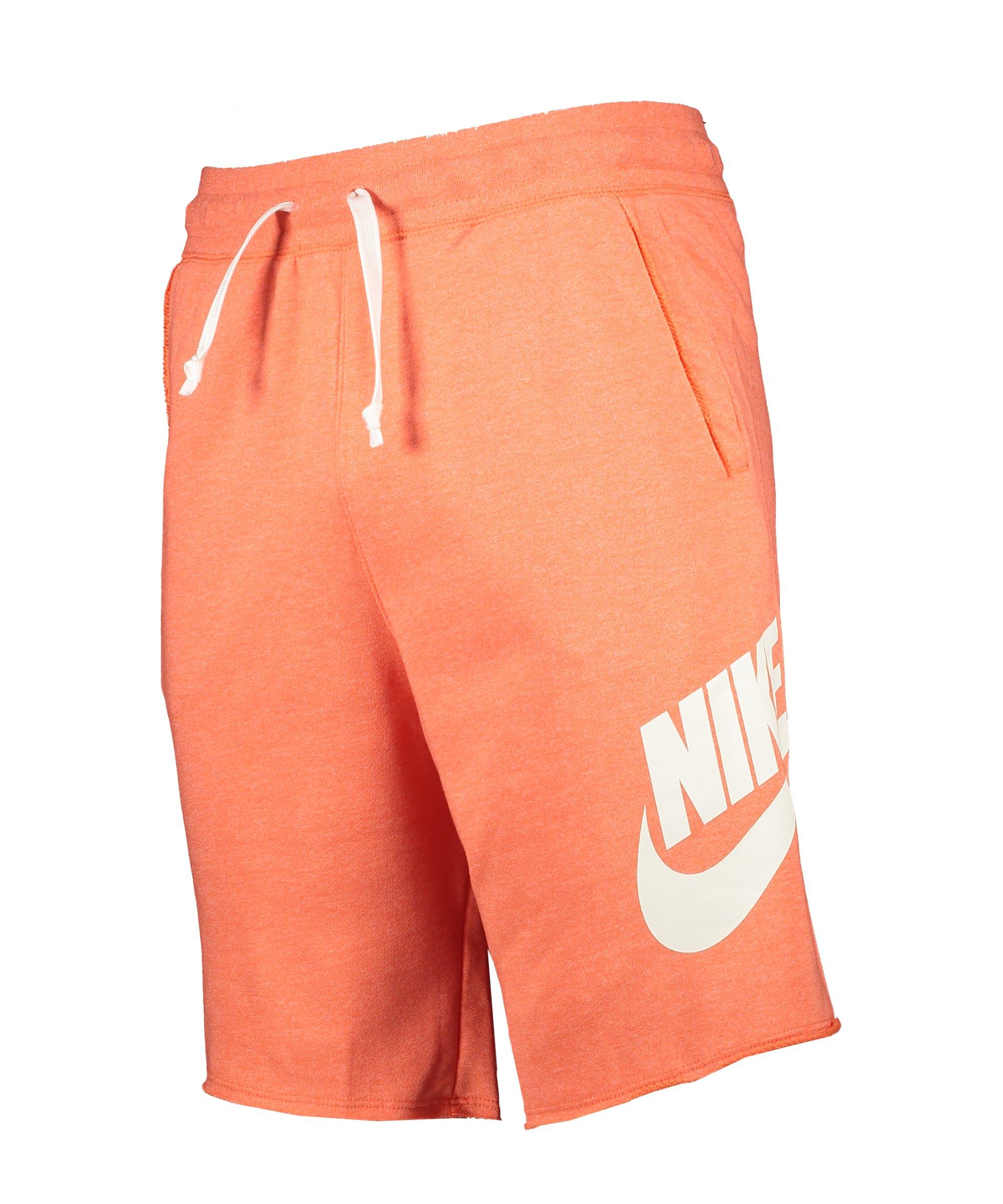 Nike Sportswear Alumni Short Orange Weiss F842 - orange