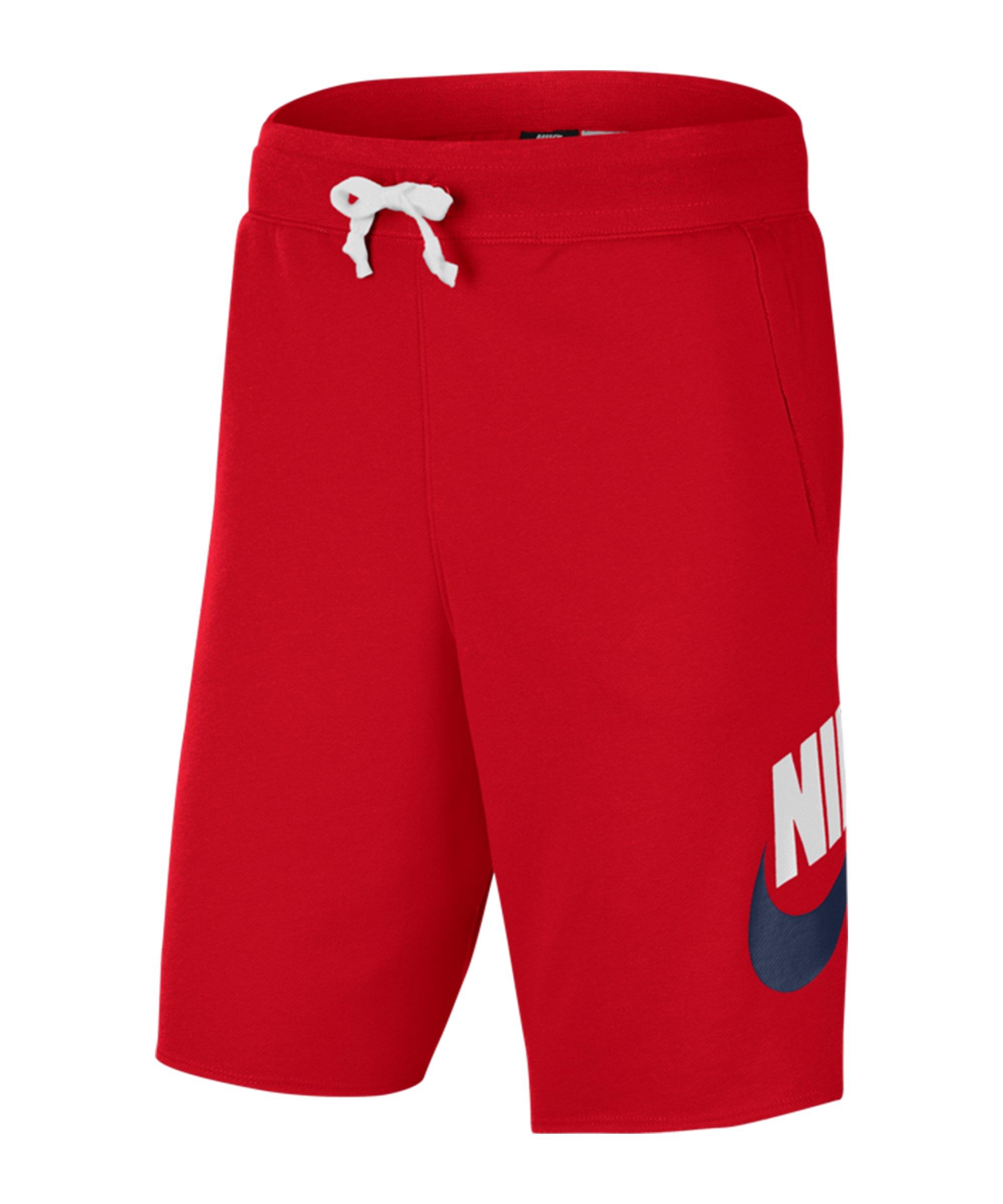 Nike Sportswear Alumni Short Rot Weiss Blau F659 - rot