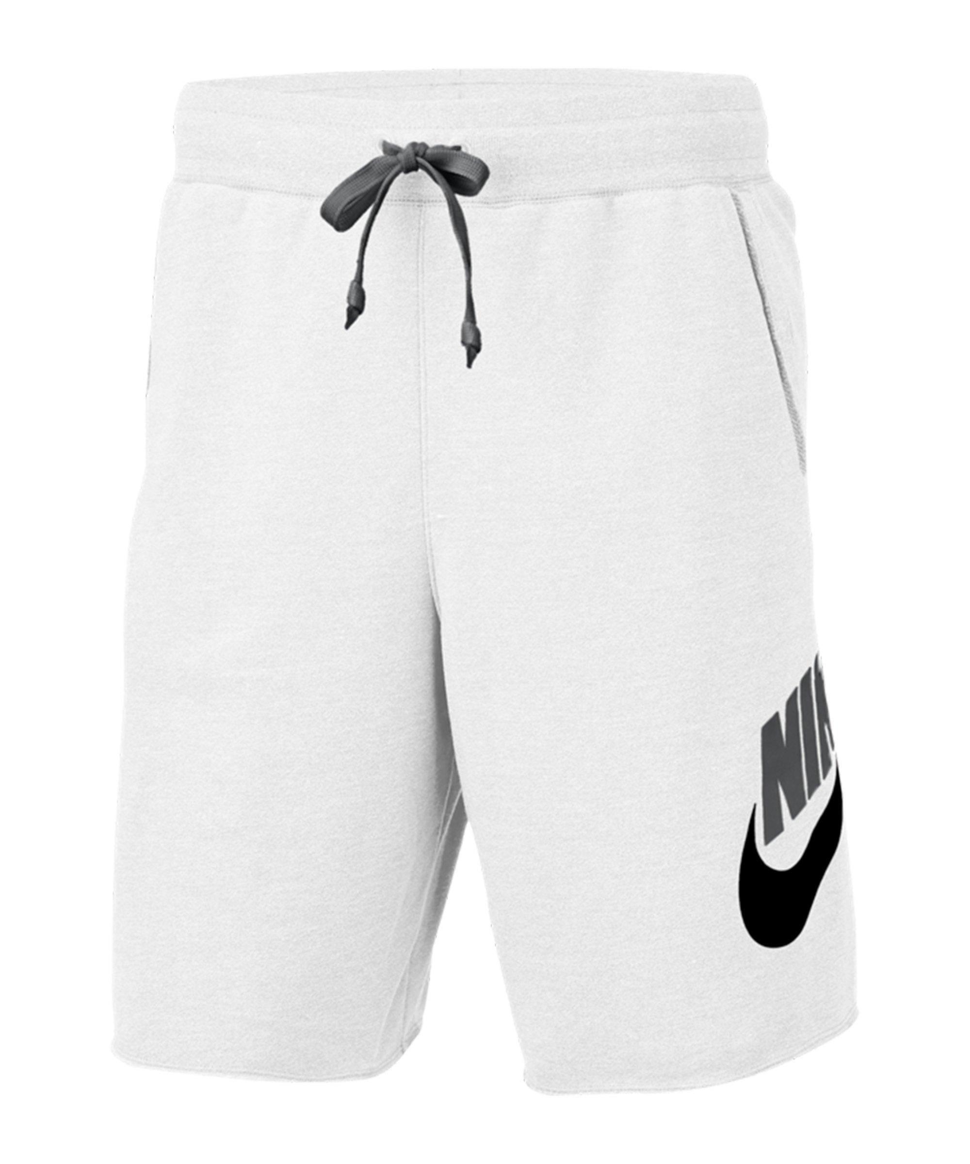 Nike Sportswear Alumni Short Weiss Schwarz F103 - weiss