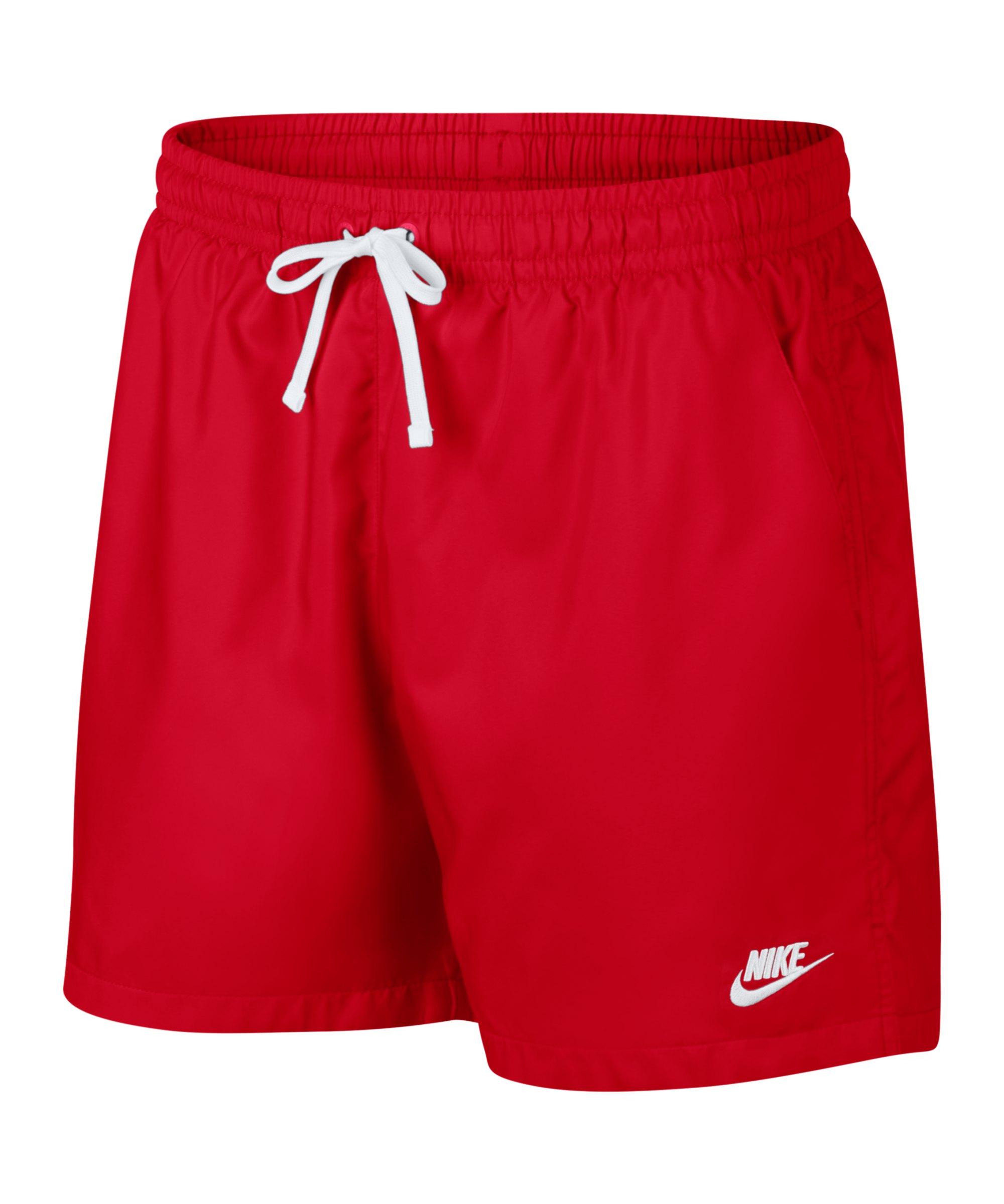 Nike Woven Short Rot Weiss F657 - rot
