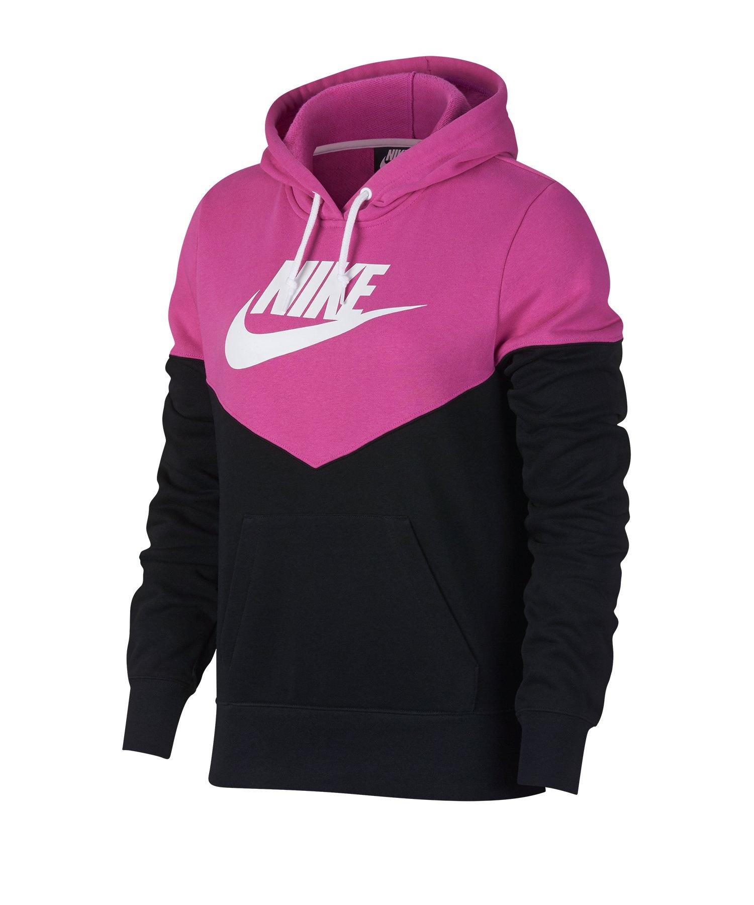 Nike Heritage Kapuzenpullover Fleece Damen F011 - Schwarz
