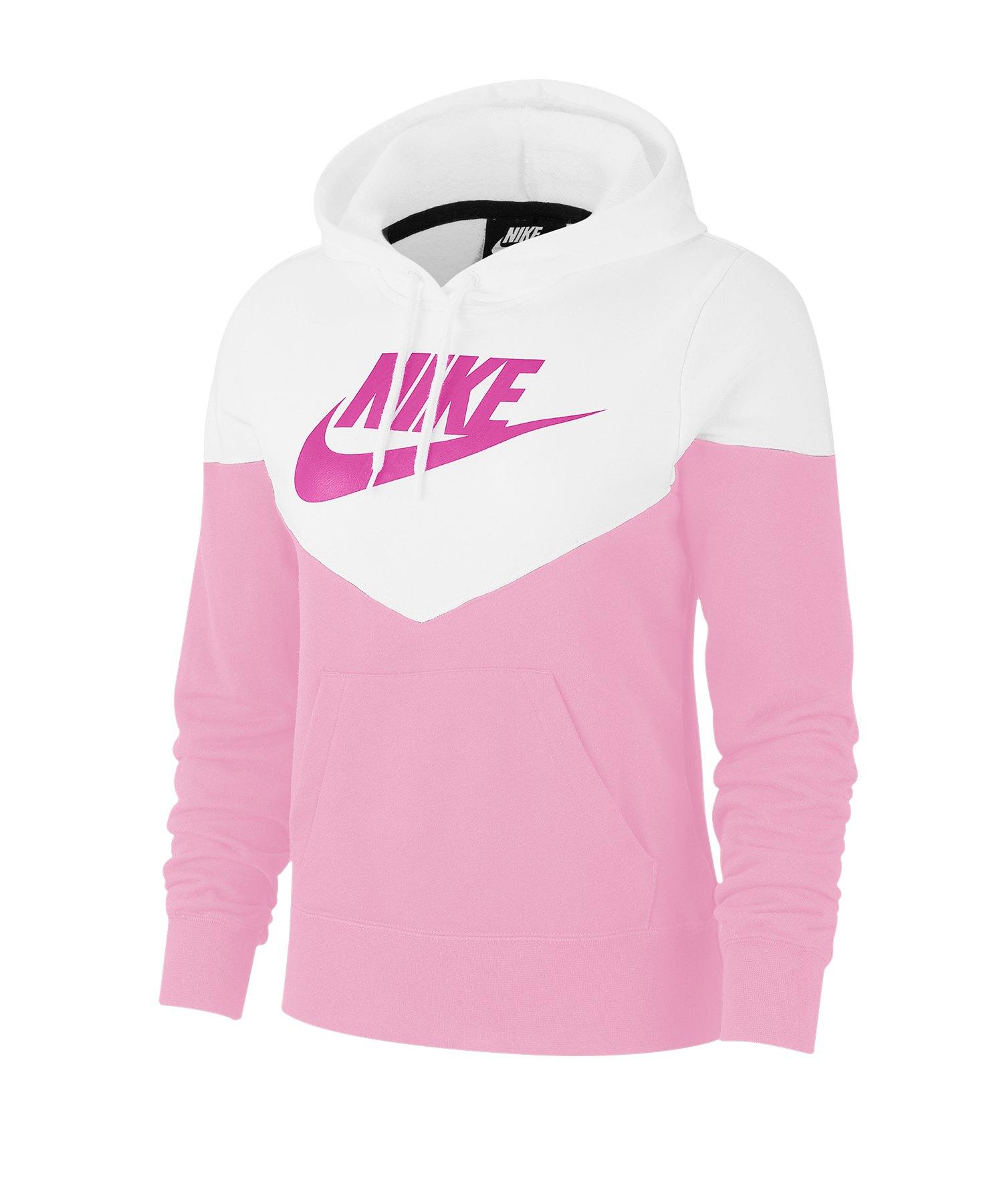 Nike Heritage Kapuzenpullover Fleece Damen F629 - grau