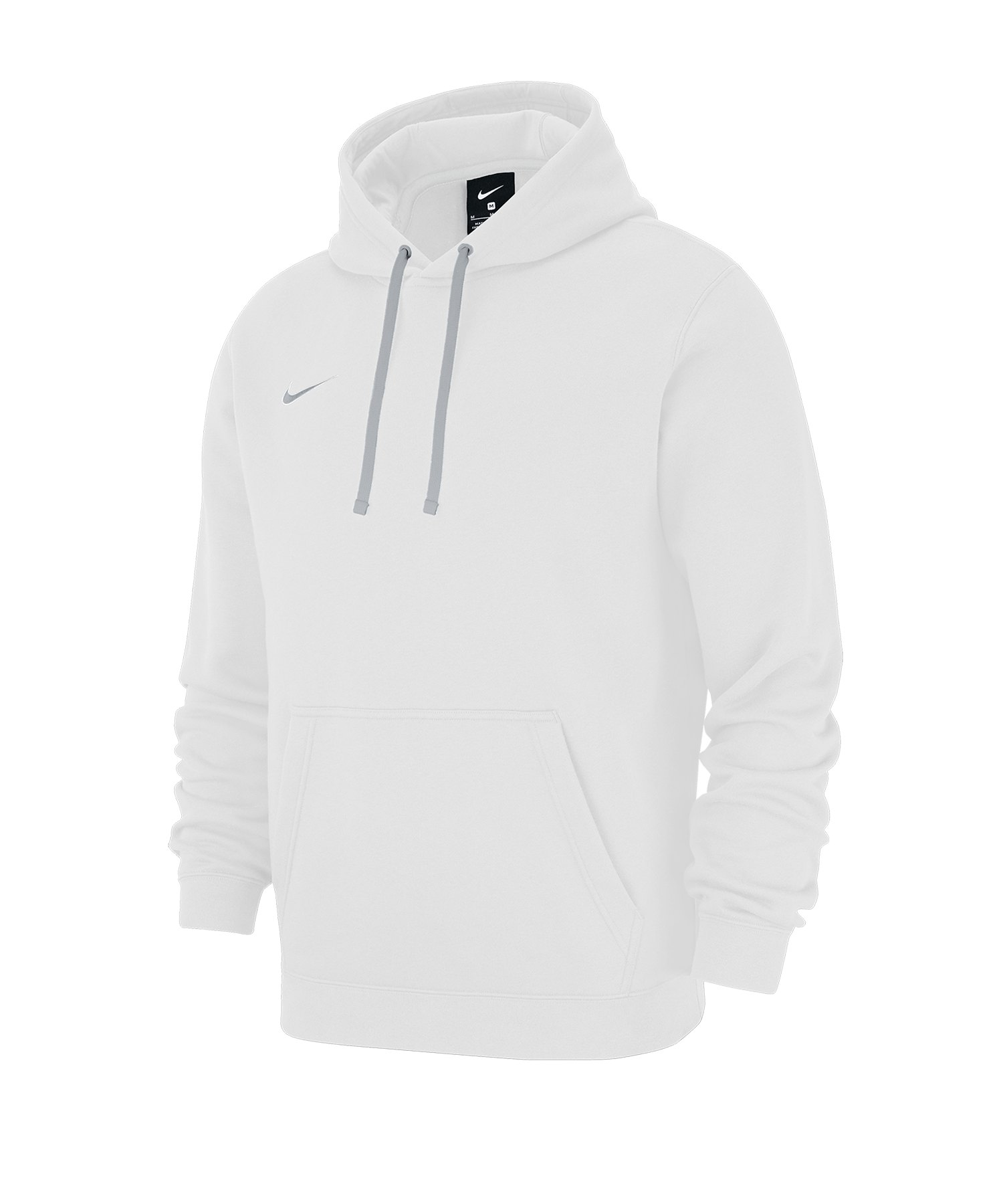 Nike Club 19 Fleece Hoody Weiss F100 - weiss