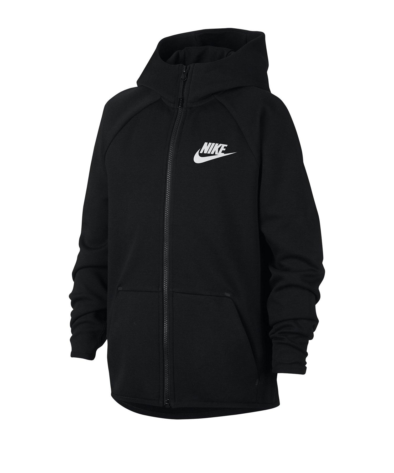Nike Tech Fleece Kapuzenjacke Jacket Kids F010 - schwarz