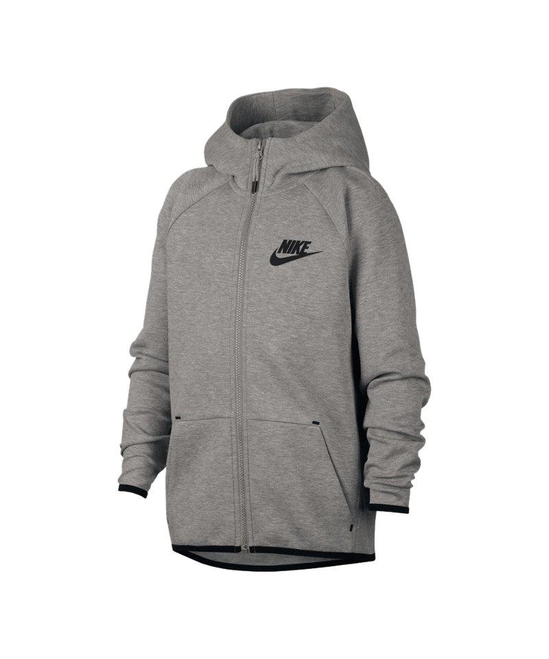 Nike Tech Fleece Kapuzenjacke Jacket Kids F063 - grau