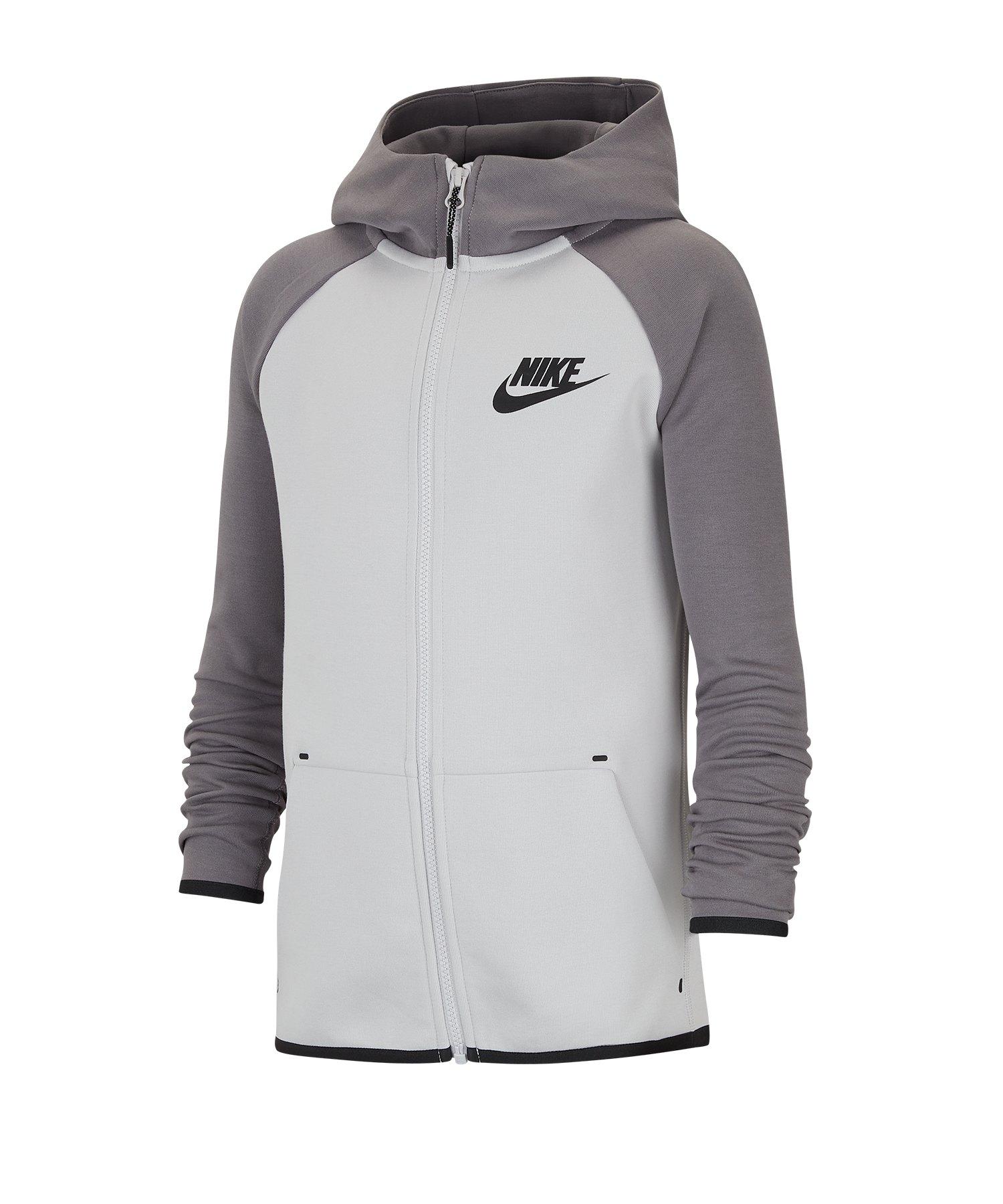 Nike Tech Fleece Kapuzenjacke Kids F078 - grau