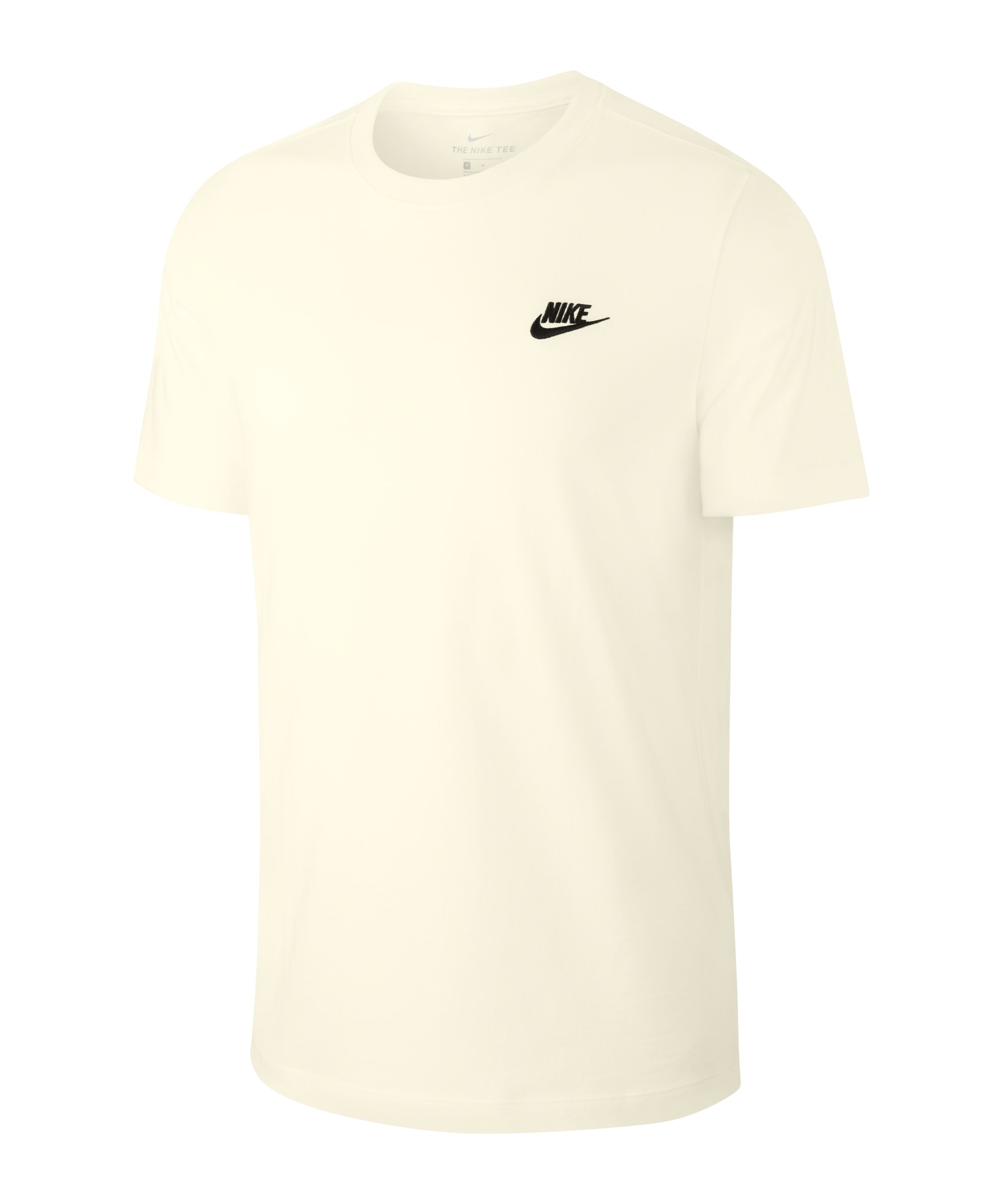 Nike Club T-Shirt Beige Schwarz F133 - beige