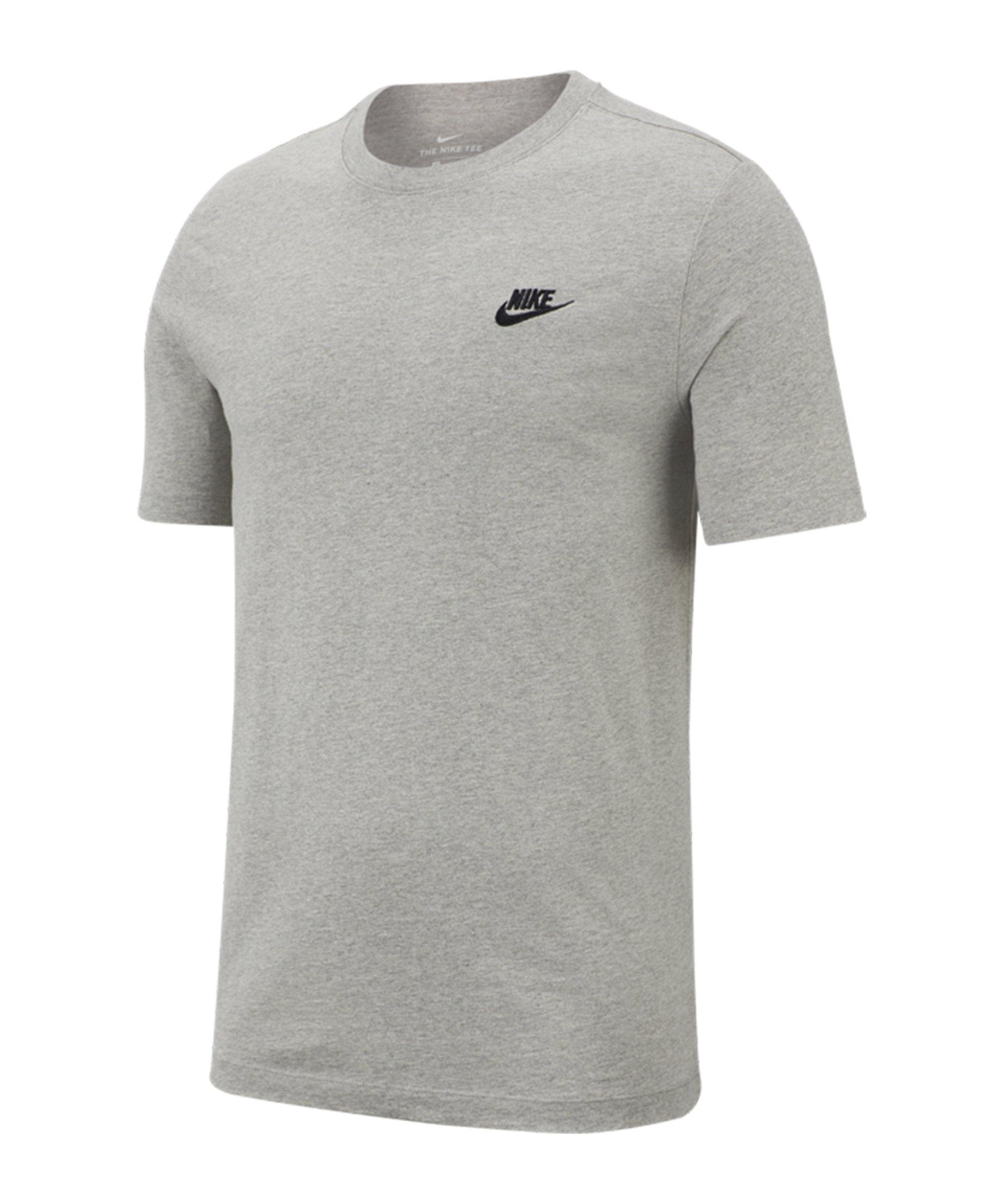 Nike Club T-Shirt Grau F064 - grau
