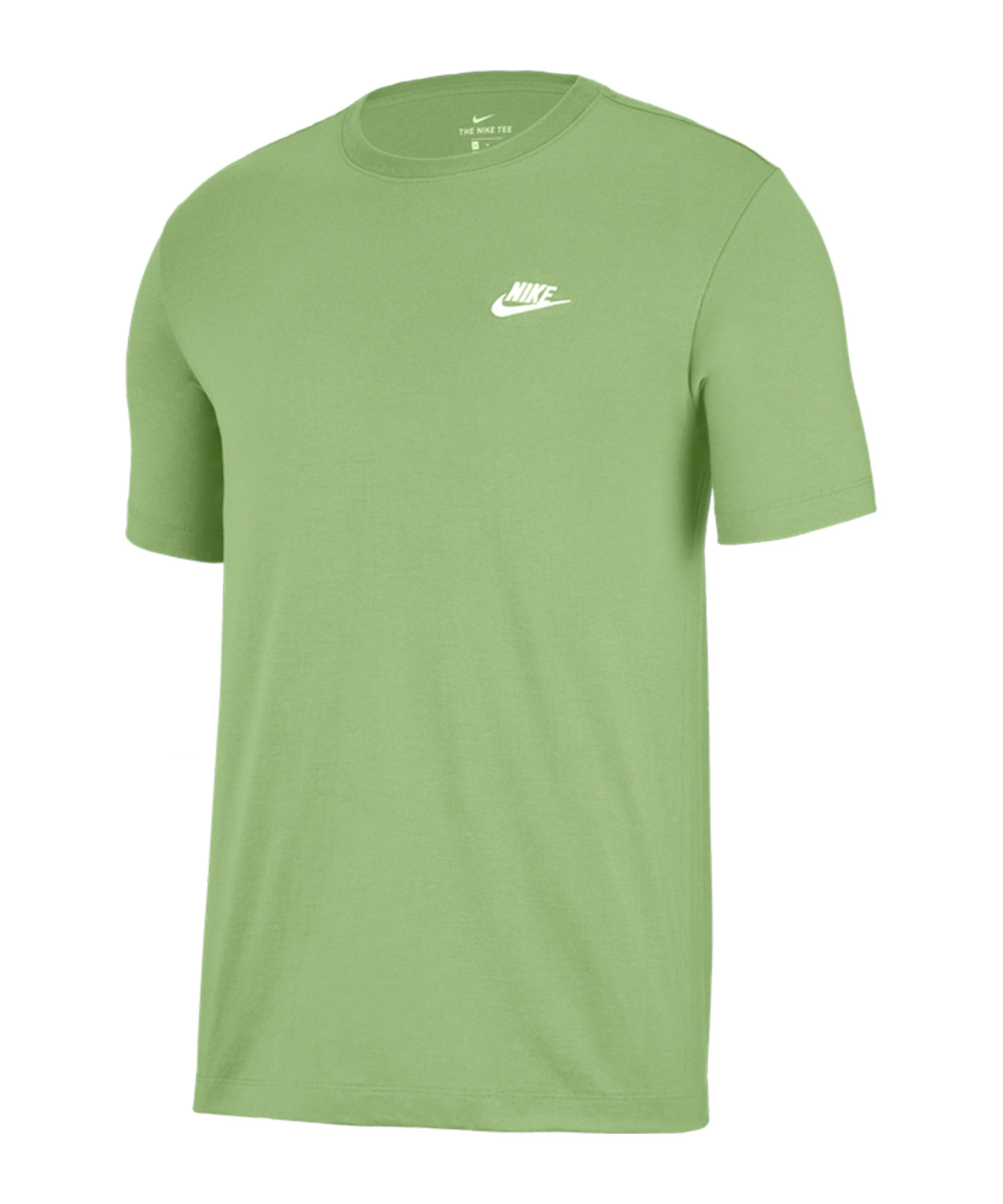 Nike Club T-Shirt Grün Weiss F383 - gruen