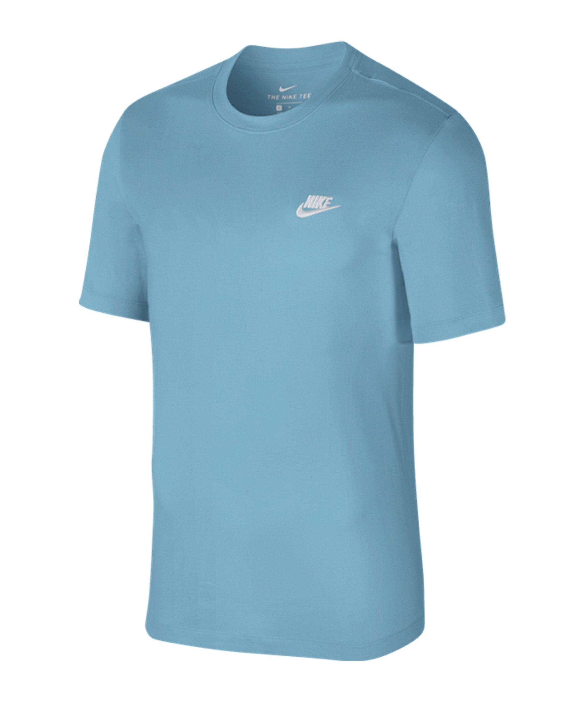 Nike Club Tee T-Shirt Blau F424 - blau