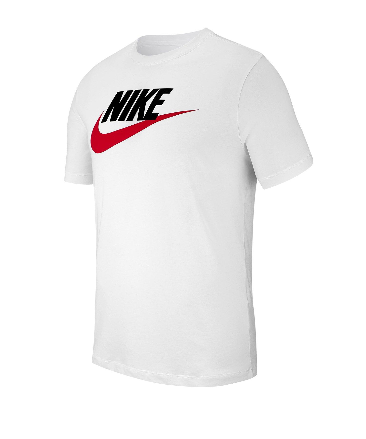 Nike Futura T-Shirt Weiss Schwarz Rot F100 - Weiss