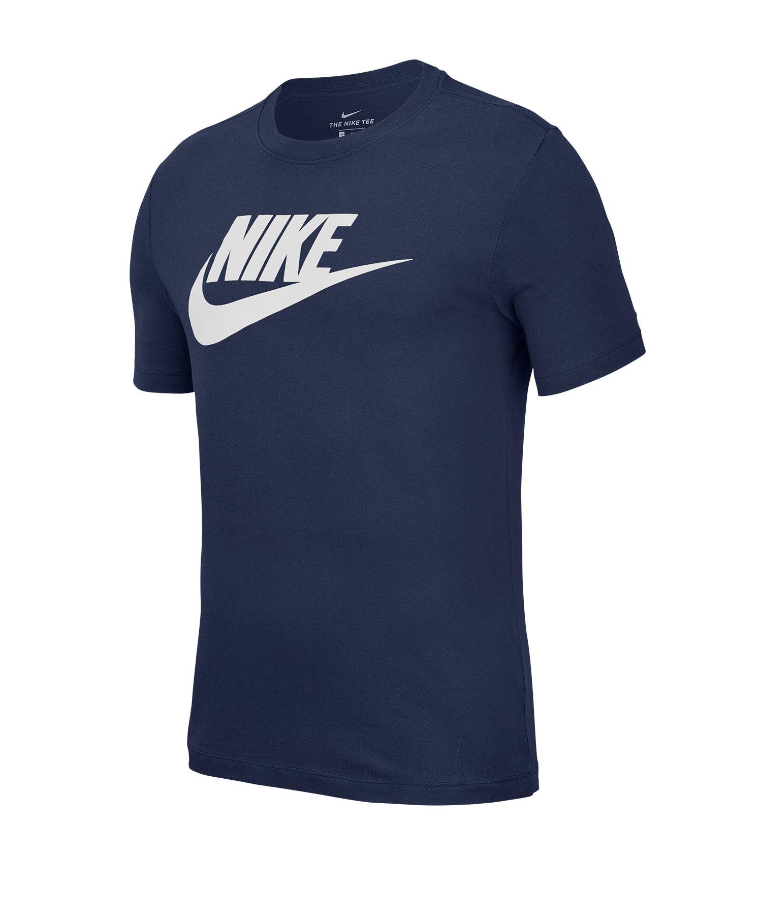 Nike Icon Futura Tee T-Shirt Blau F411 - blau