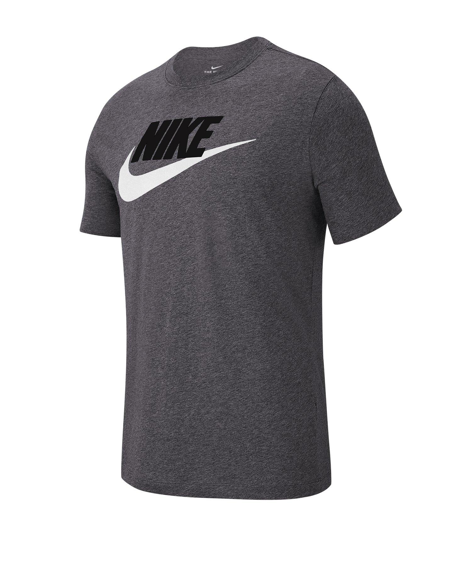 Nike Tee T-Shirt Grau Weiss F063 - grau