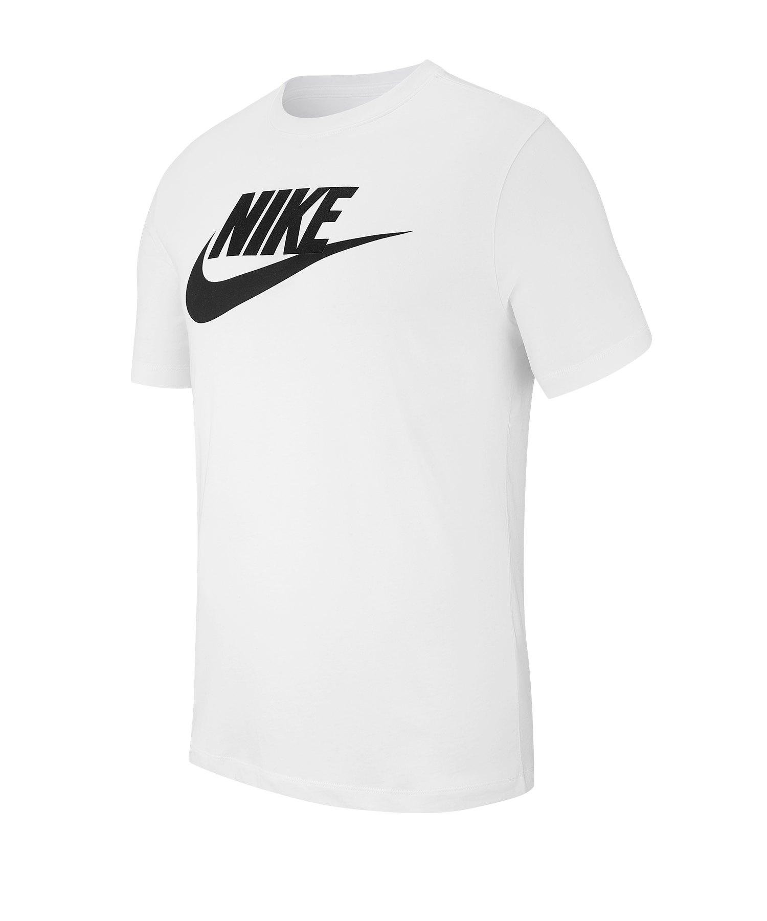 Nike Tee T-Shirt Weiss Schwarz F101 - weiss