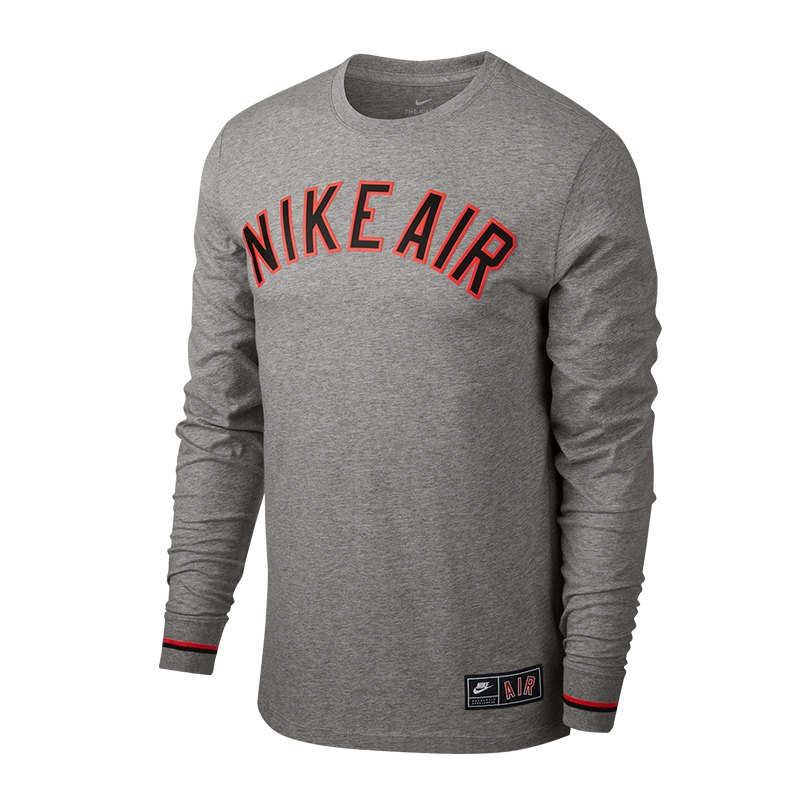 Nike Air 1 Sweatshirt Grau F063 - grau