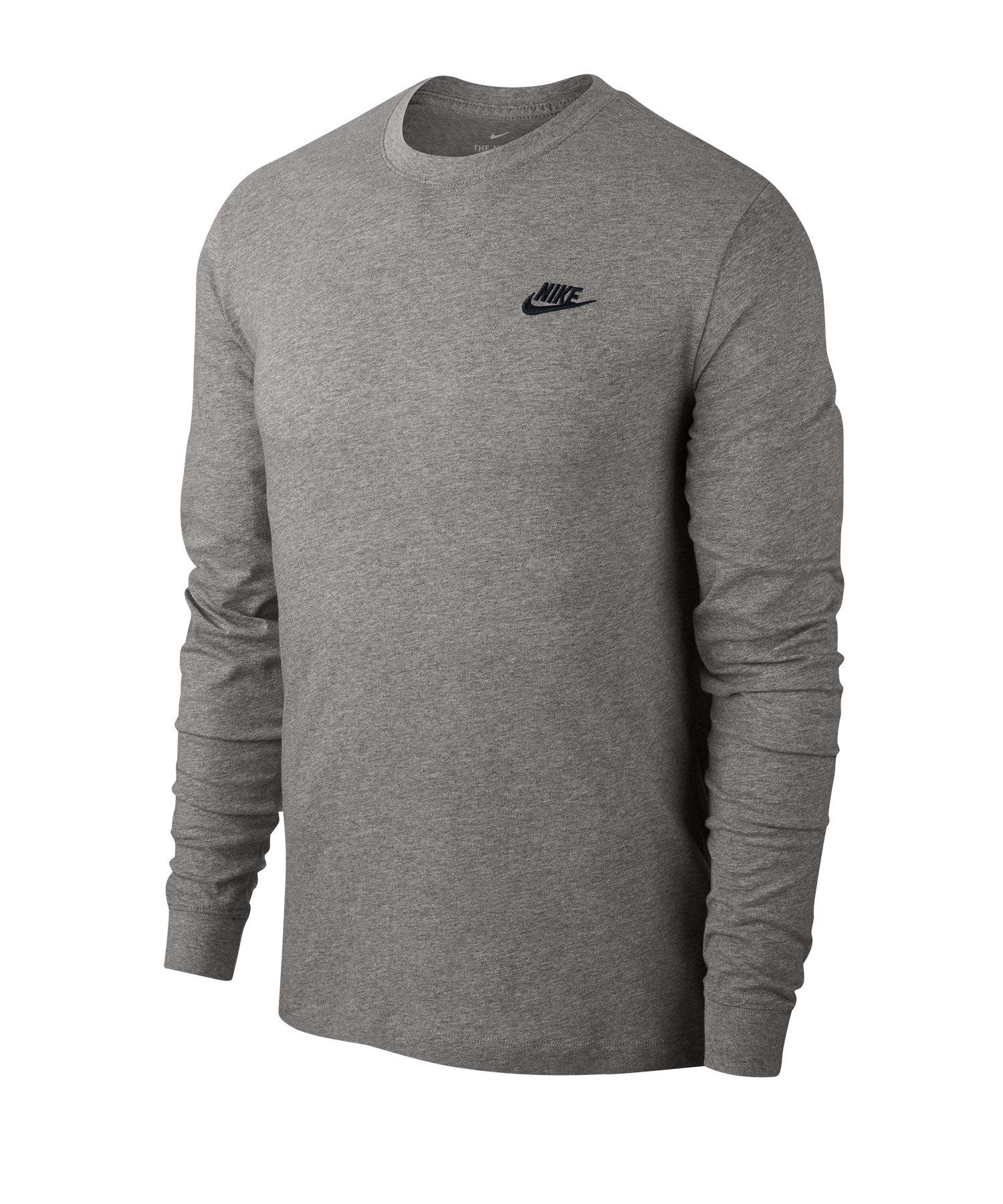 Nike Club Sweatshirt langarm F063 - grau