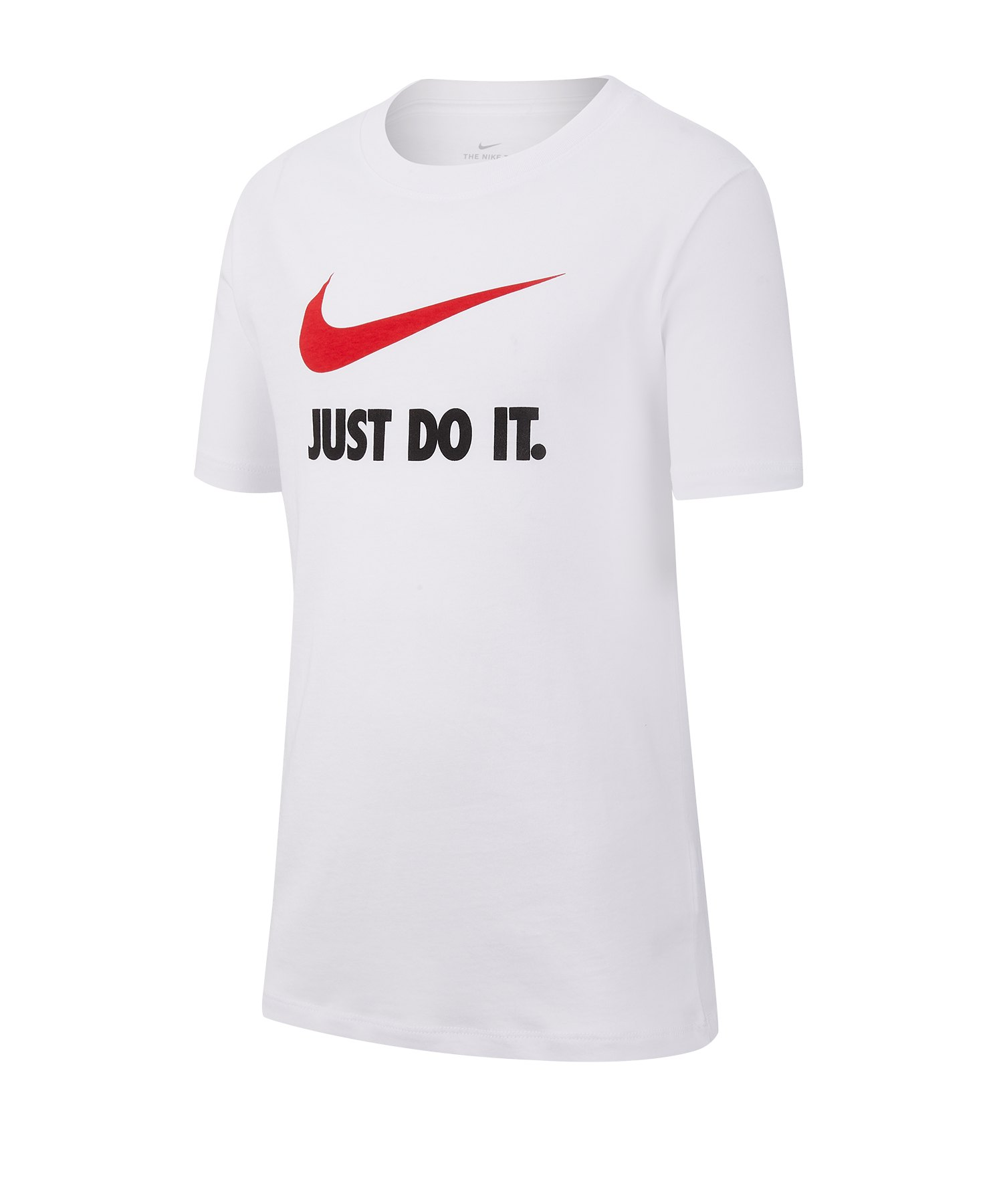Nike Just Do It Swoosh Tee T-Shirt Kids Weiss F100 - weiss