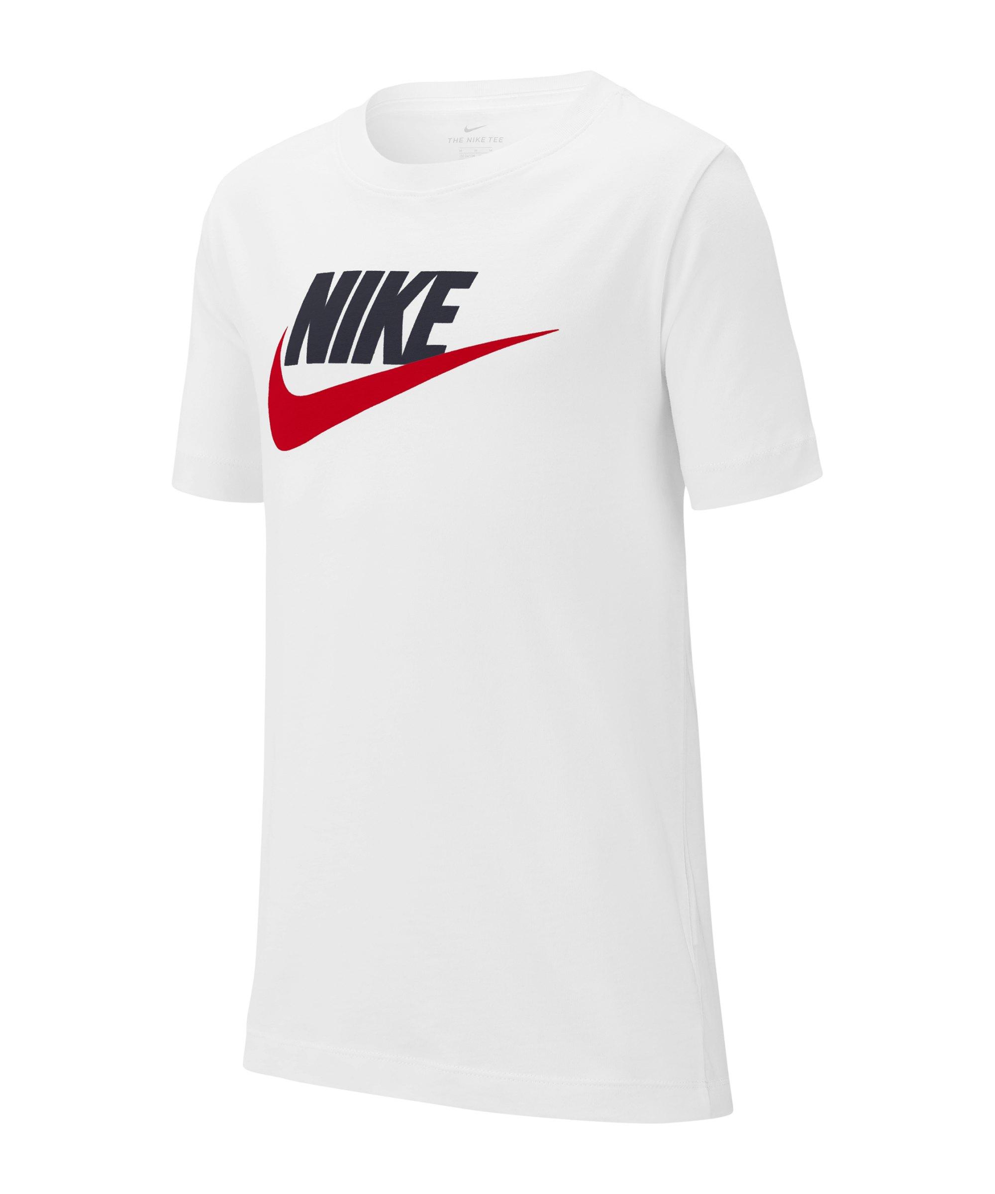 Nike T-Shirt Kids (TD) Weiss Blau Rot F107 - weiss