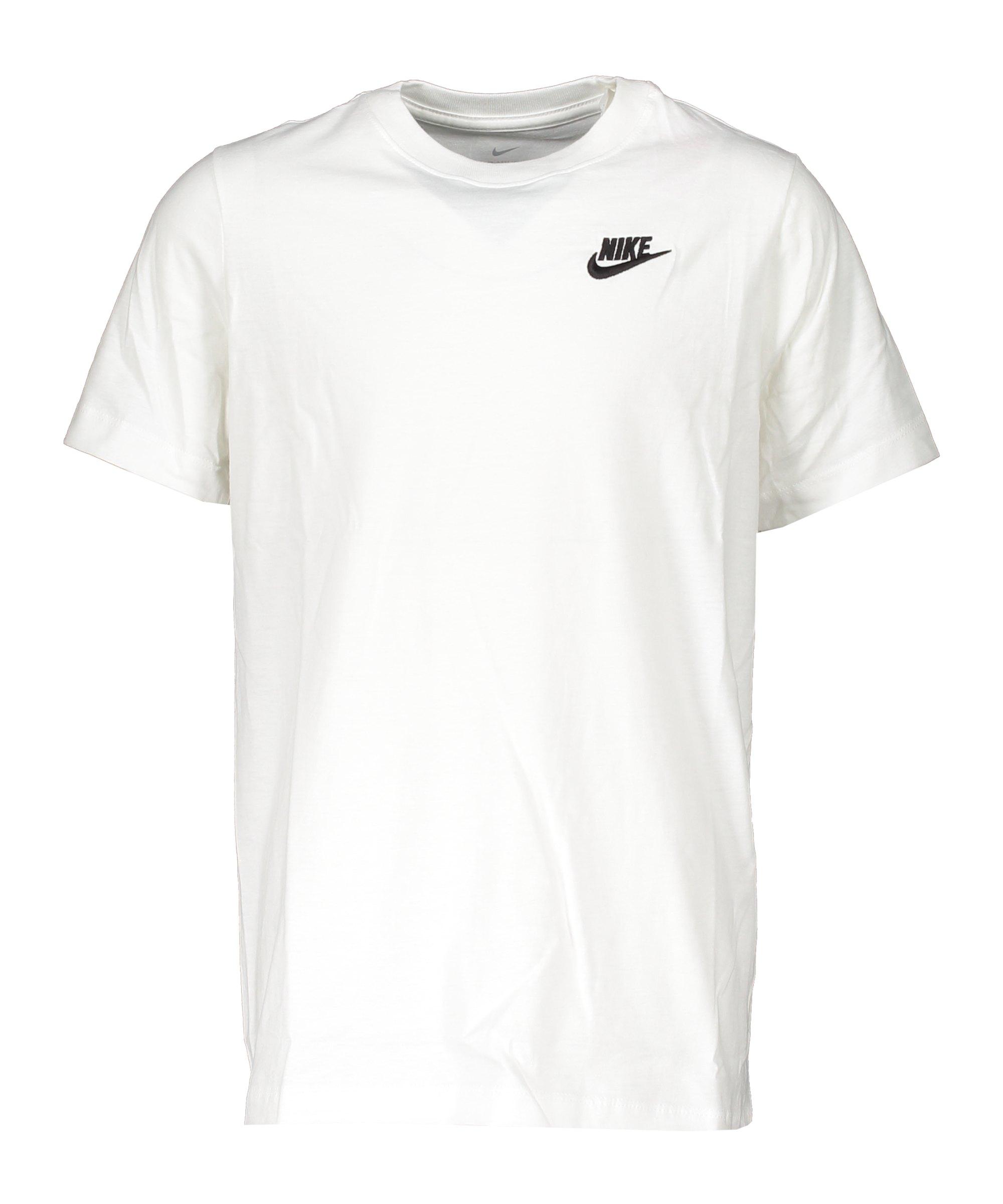 Nike Futura T-Shirt Kids Weiss Schwarz F100 - weiss