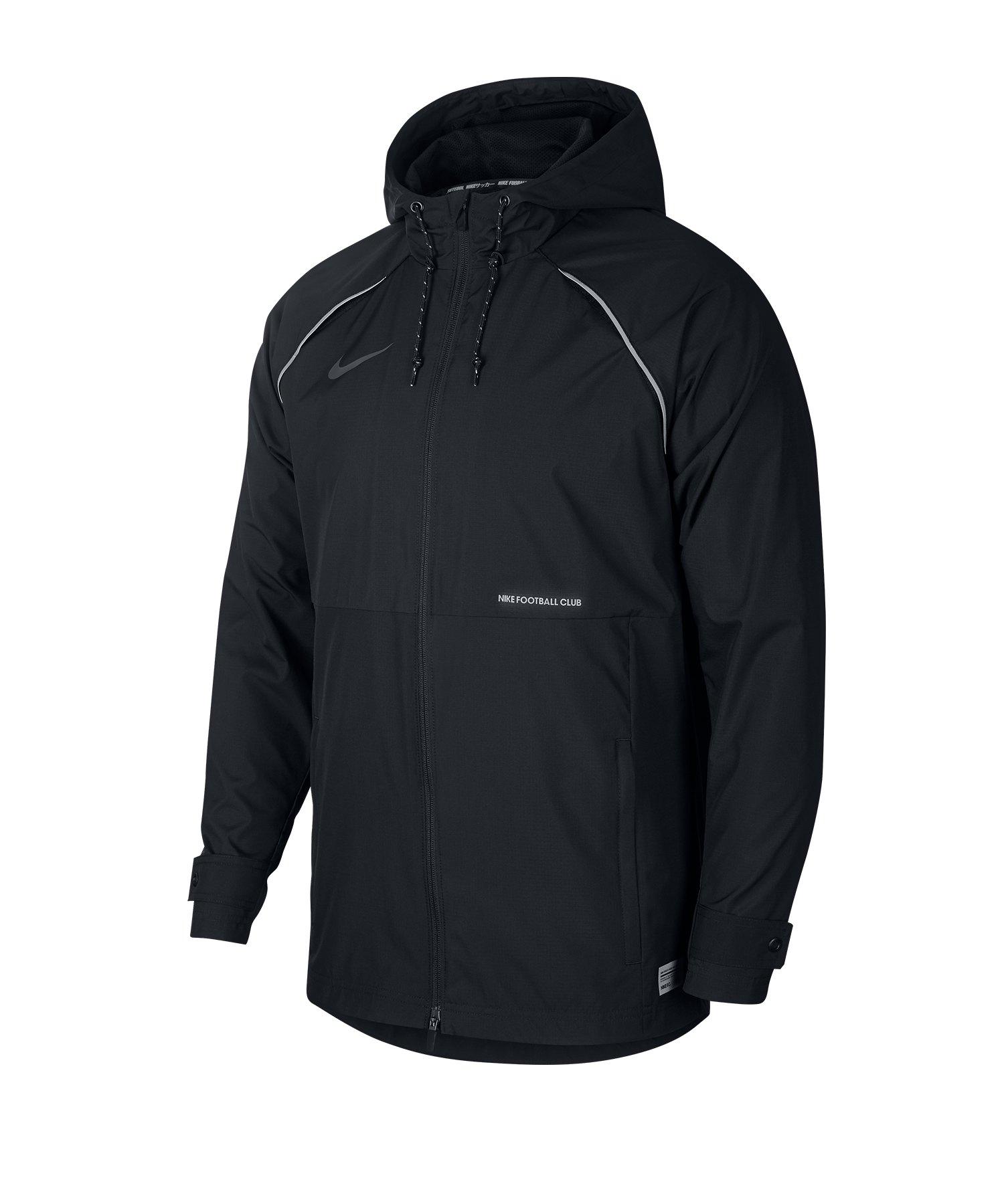 Nike F.C Allwetterjacke Schwarz F010 - schwarz