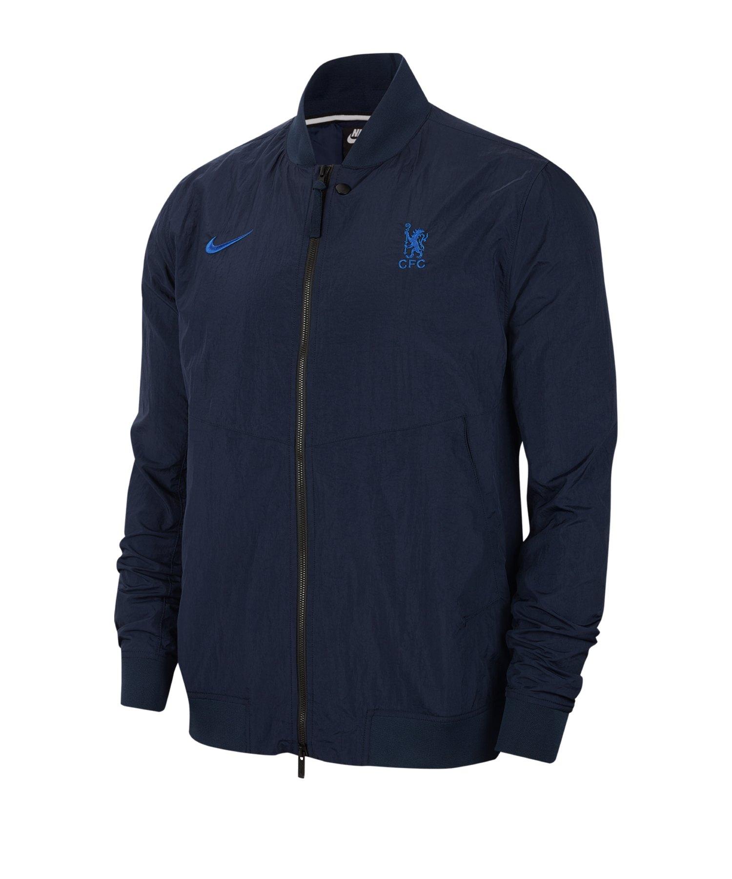 Nike FC Chelsea London Varsity Jacke F451 - blau