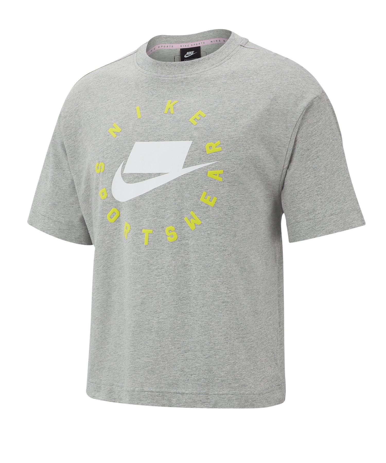Nike Tee T-Shirt Damen Grau F063 - grau