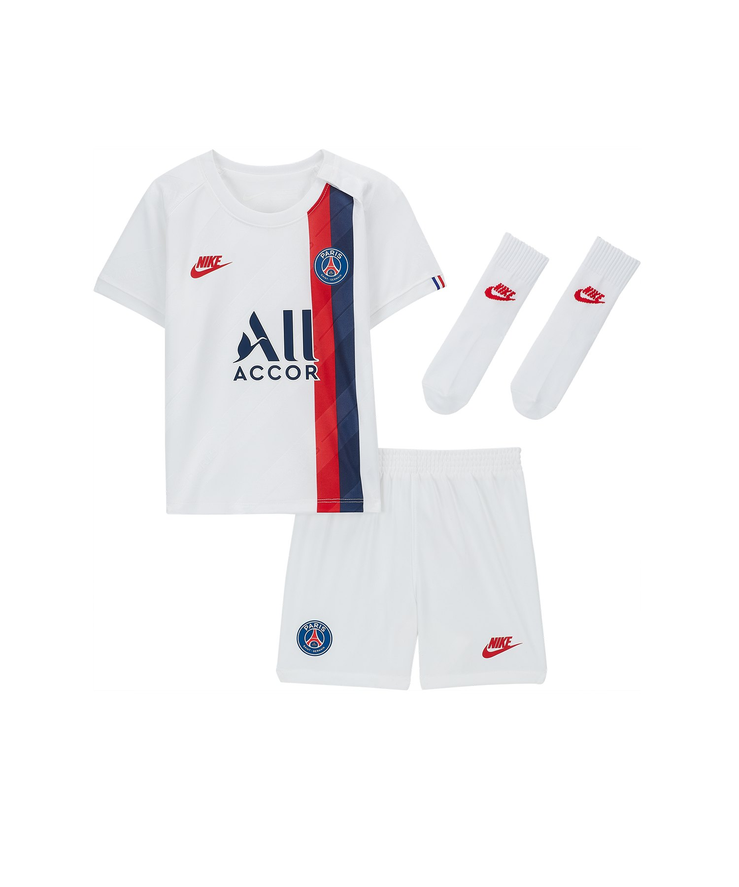 Nike Paris St. Germain Babykit UCL 19/20 F102 - weiss