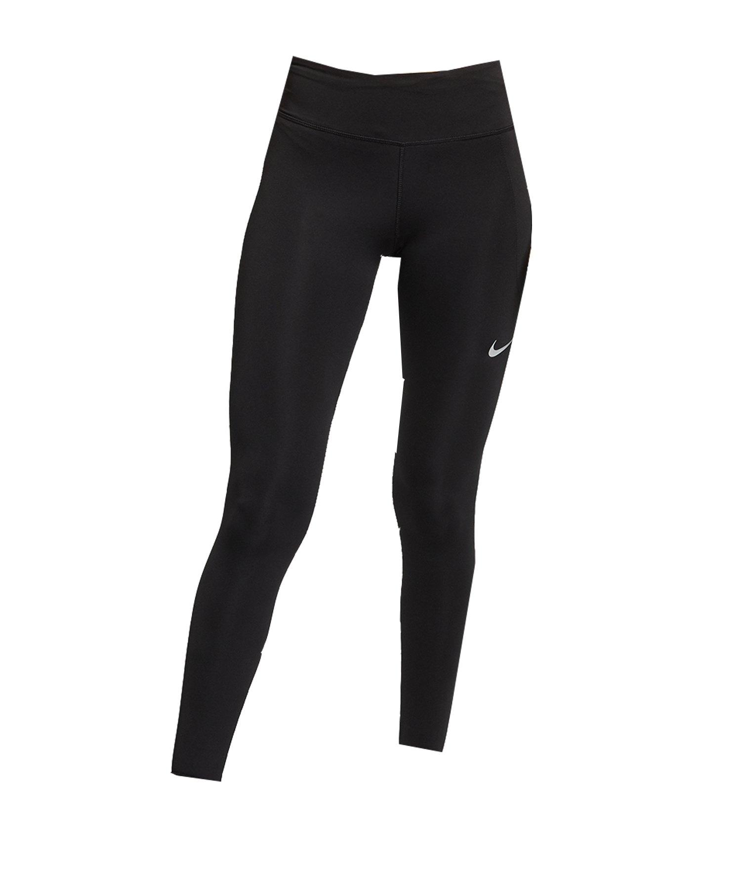 Nike Fast Leggings Damen Schwarz F010 - schwarz