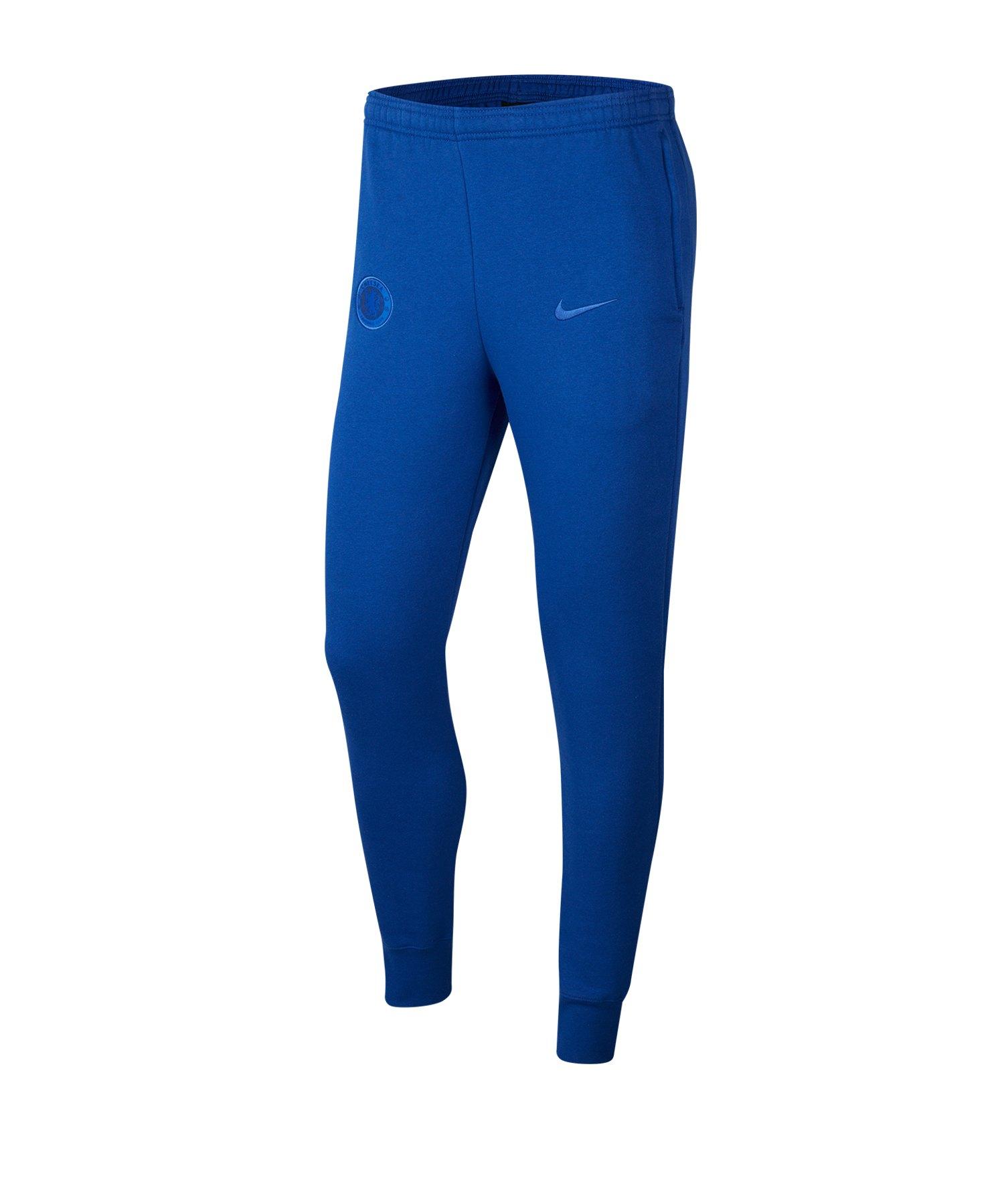 Nike FC Chelsea London Fleece Pants Hose lang F495 - blau