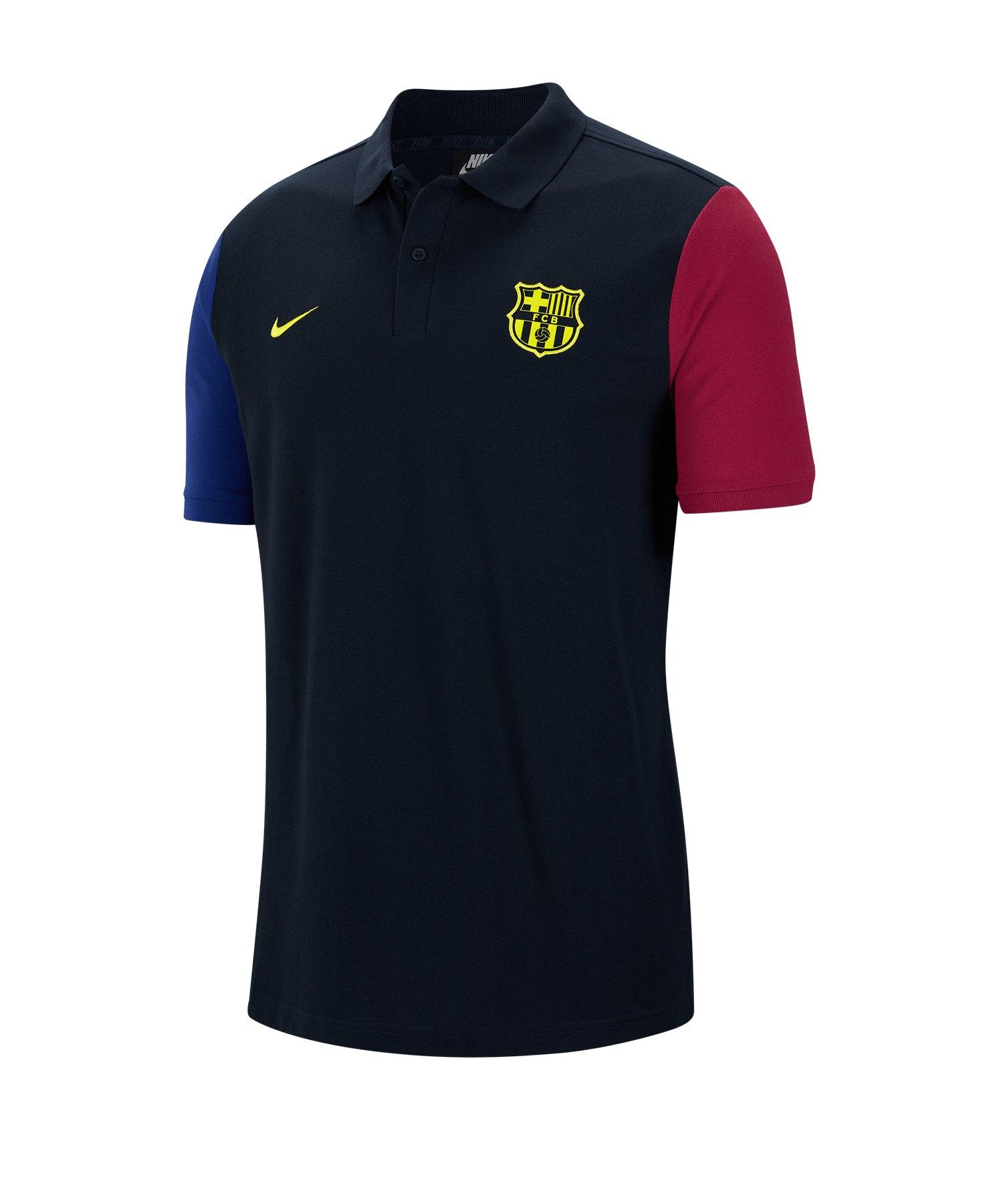 Nike FC Barcelona Poloshirt Blau F475 - blau