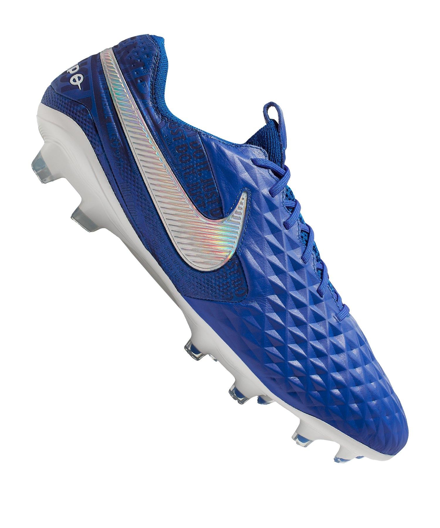 Nike Tiempo Legend VIII Elite FG Blau Weiss F414 - blau