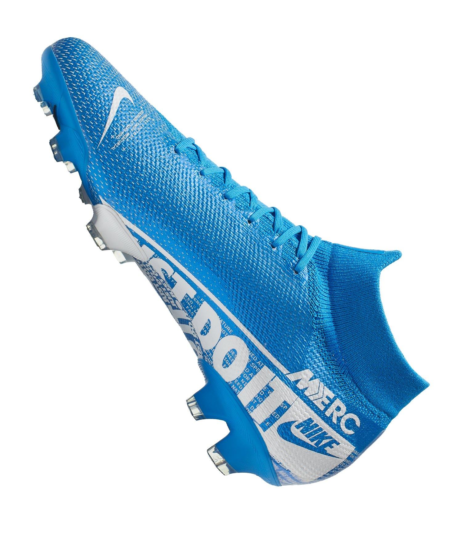 Nike Mercurial Superfly VII Pro FG Blau Weiss F414 ...