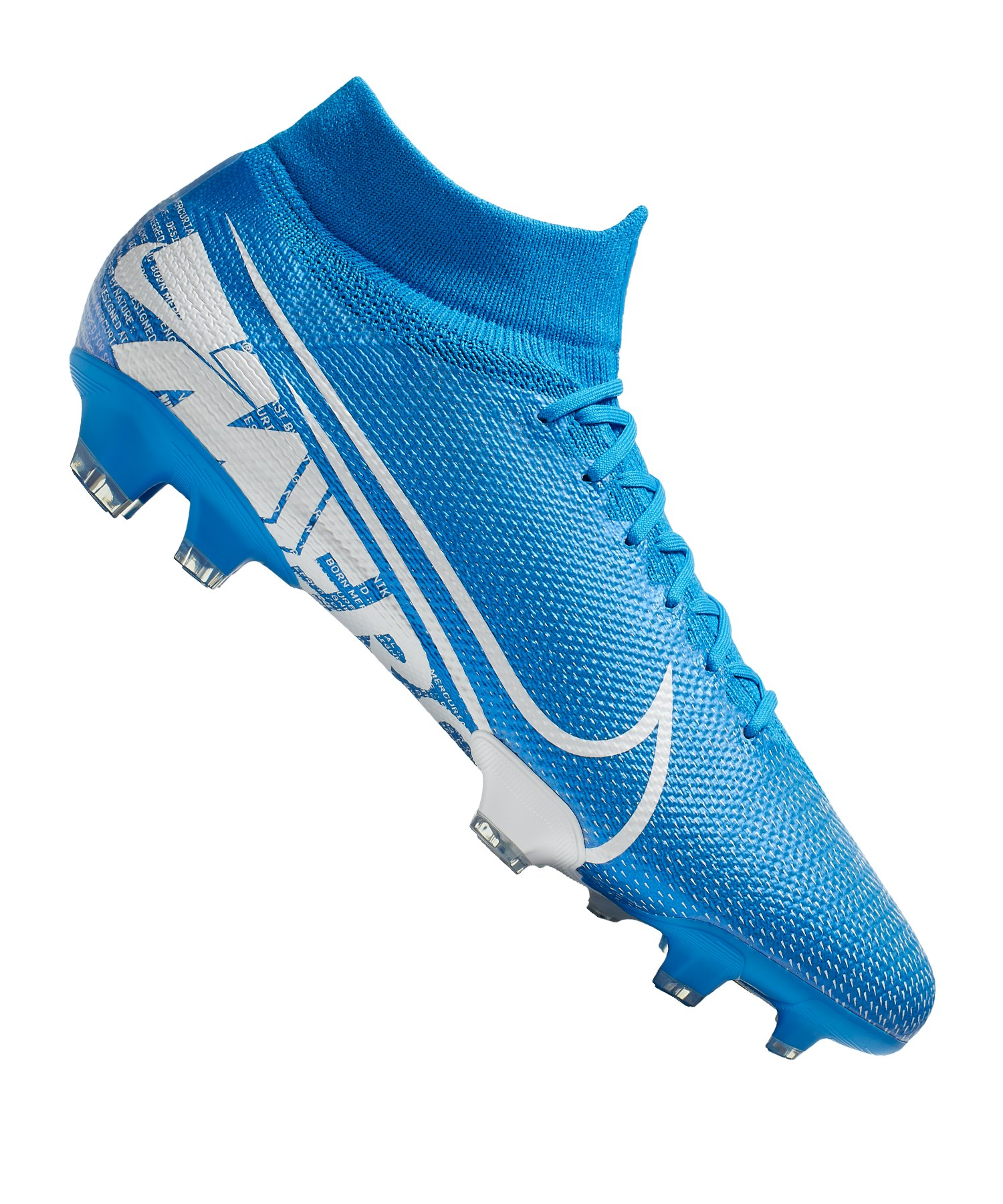 Nike Mercurial Superfly VII Pro FG Blau Weiss F414 - blau