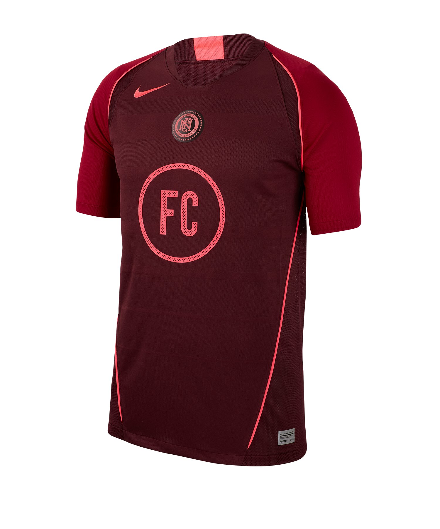 Nike F.C. Home Soccer Trikot kurzarm Rot F681 - rot