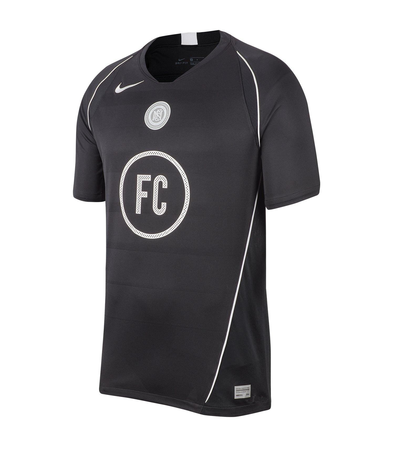 Nike F.C. Home Soccer Trikot kurzarm Schwarz F010 - schwarz