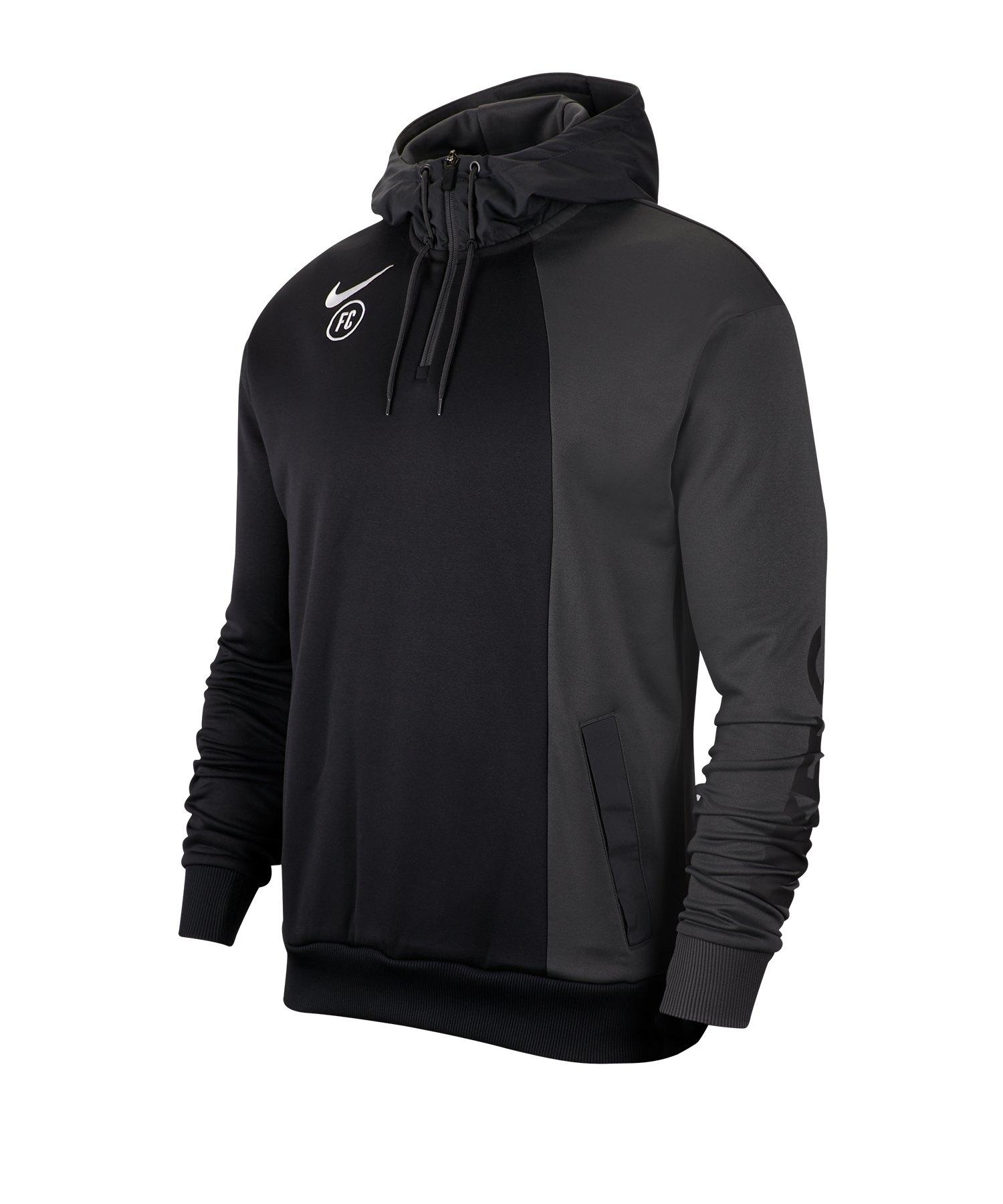 Nike F.C. Hoody Kapuzenpullover Schwarz F060 - schwarz