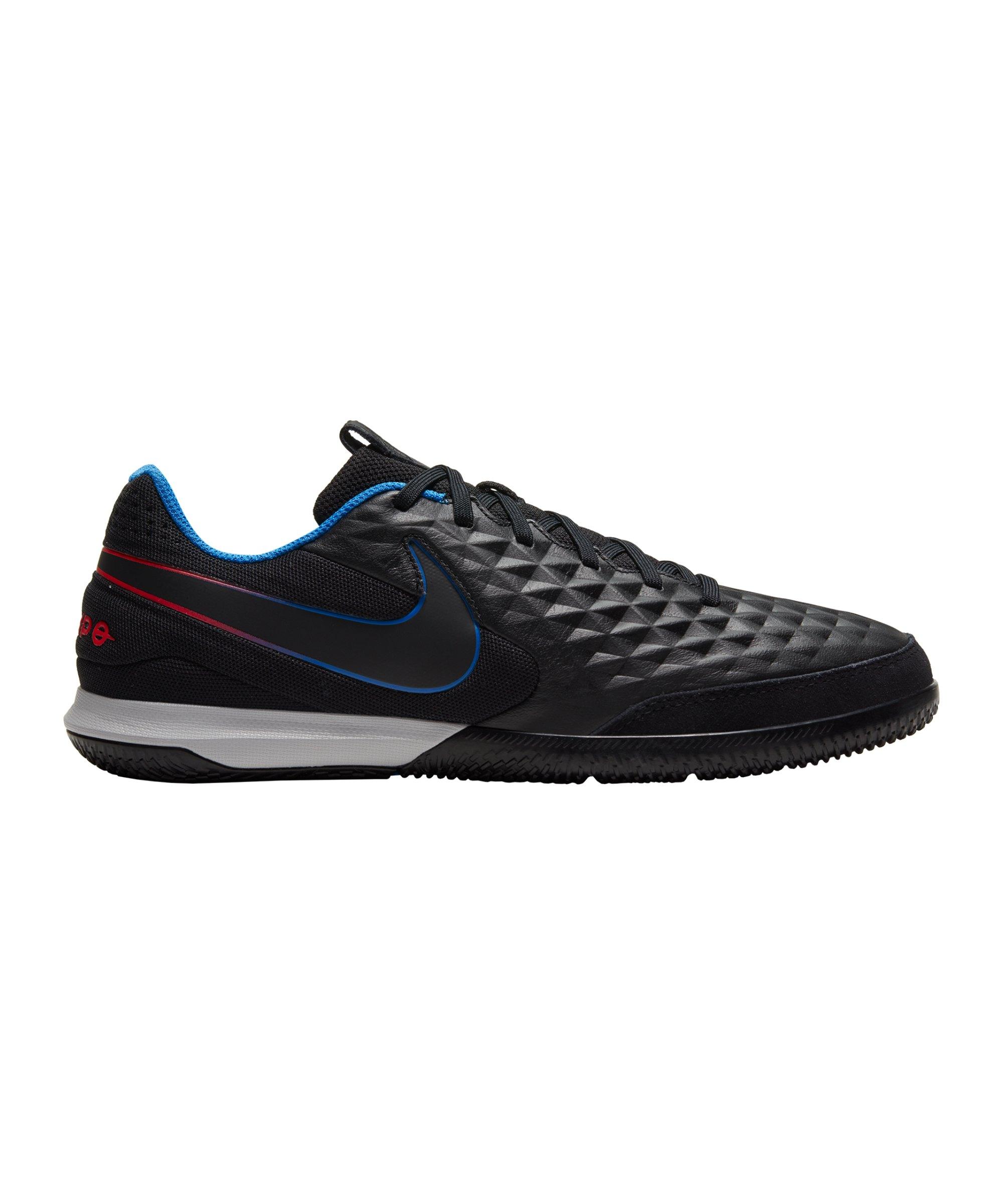 Nike Tiempo Legend VIII Black X Prism Academy IC Schwarz Blau Rot F090 - schwarz