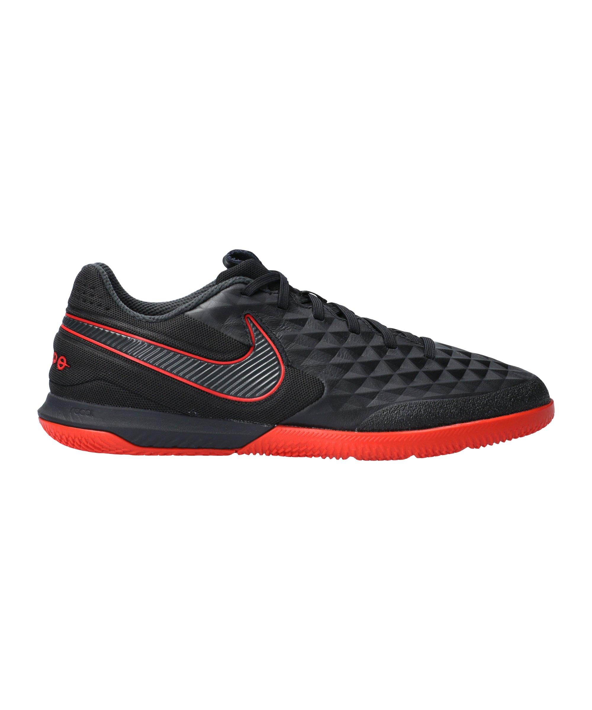 Nike Tiempo Legend VIII Black X Chile Red Pro React IC Schwarz F060 - schwarz